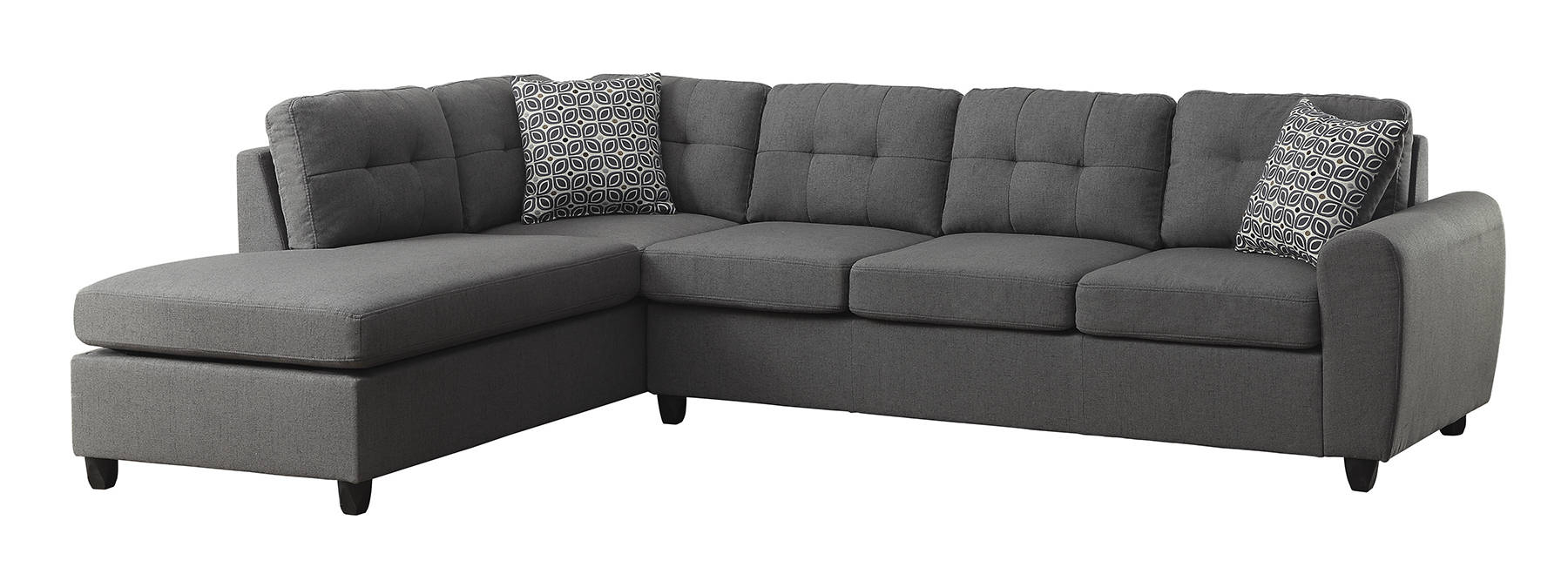Well Liked Evan 2 Piece Sectionals With Raf Chaise Intended For Coaster Furniture Stonenesse Sectional (View 3 of 20)