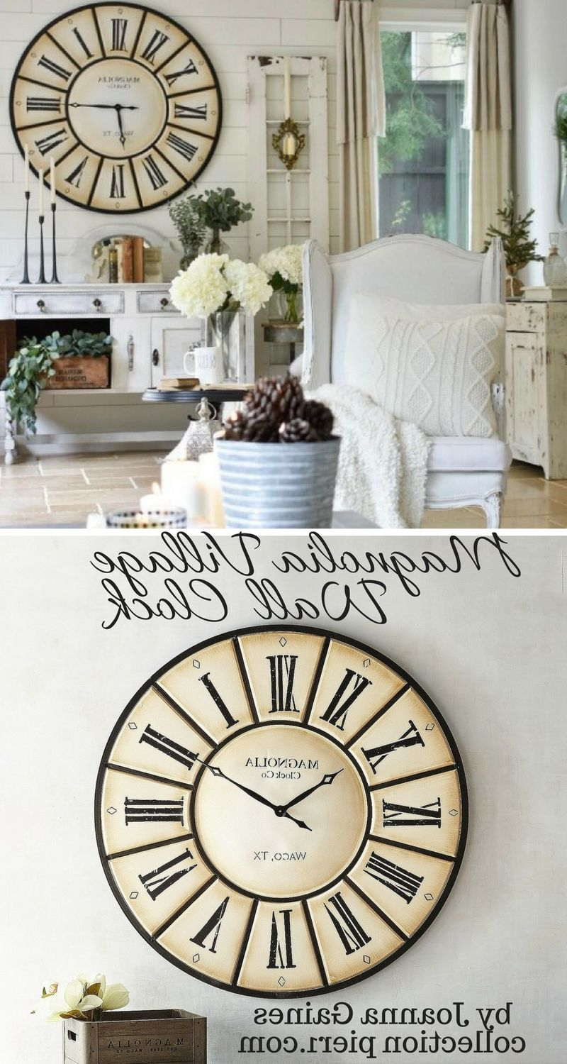 Well Liked Fantastic Oversized Clock From Magnolia Home, Village Wall Clock For Magnolia Home Dylan Sideboards By Joanna Gaines (View 17 of 20)