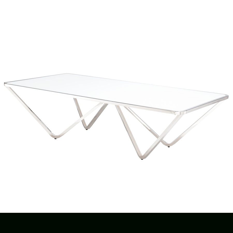 Well Liked Inverted Triangle Coffee Tables Regarding Wave Rectangle Modern Coffee Table (View 19 of 20)