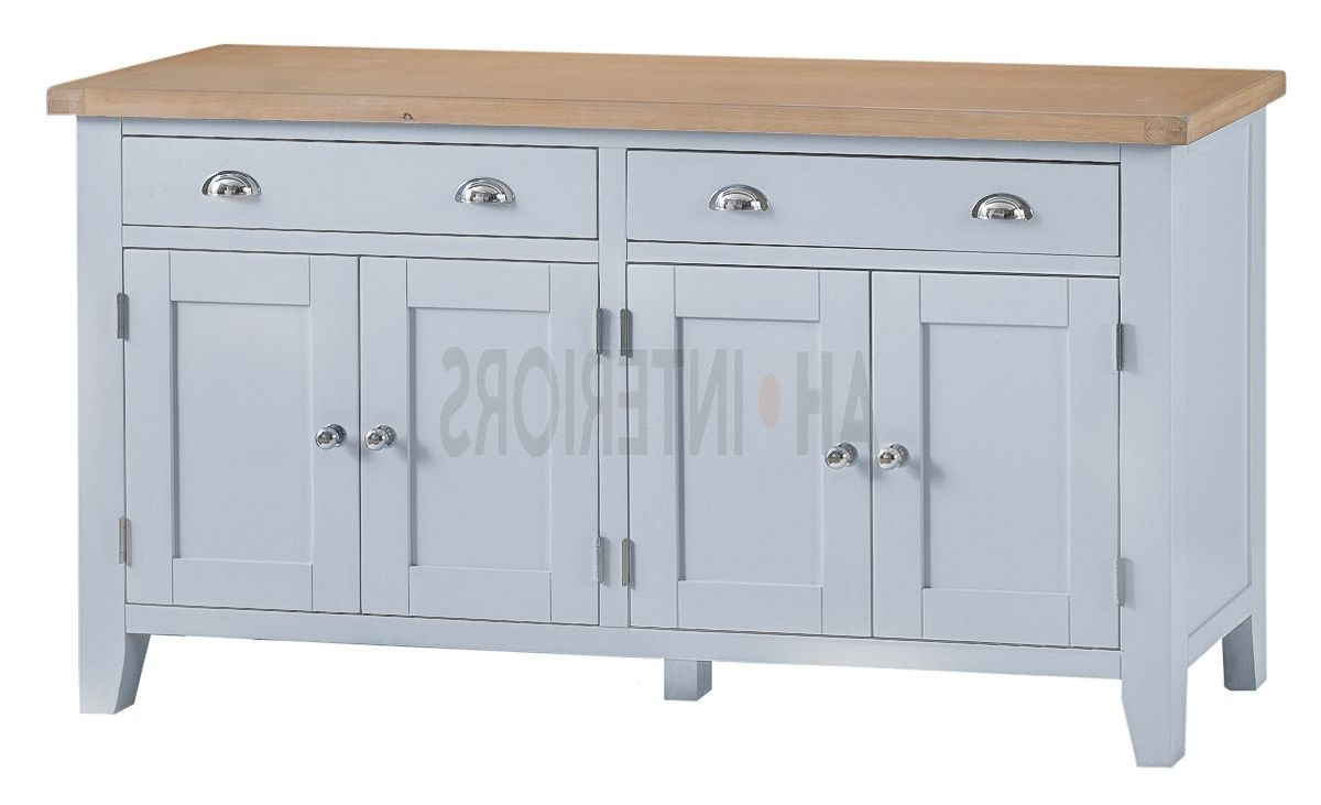 Well Liked Kettle Interiors Tt Extra Large 4 Door Sideboard Regarding 3 Drawer/2 Door White Wash Sideboards (Gallery 5 of 20)