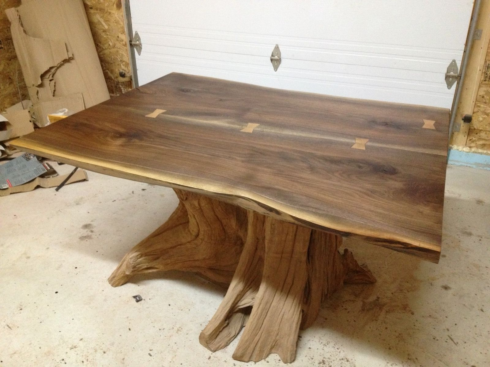 Well Liked Live Edge Teak Coffee Tables Within Hand Made Live Edge Black Walnut Dining Room Tablebois & Design (View 11 of 20)