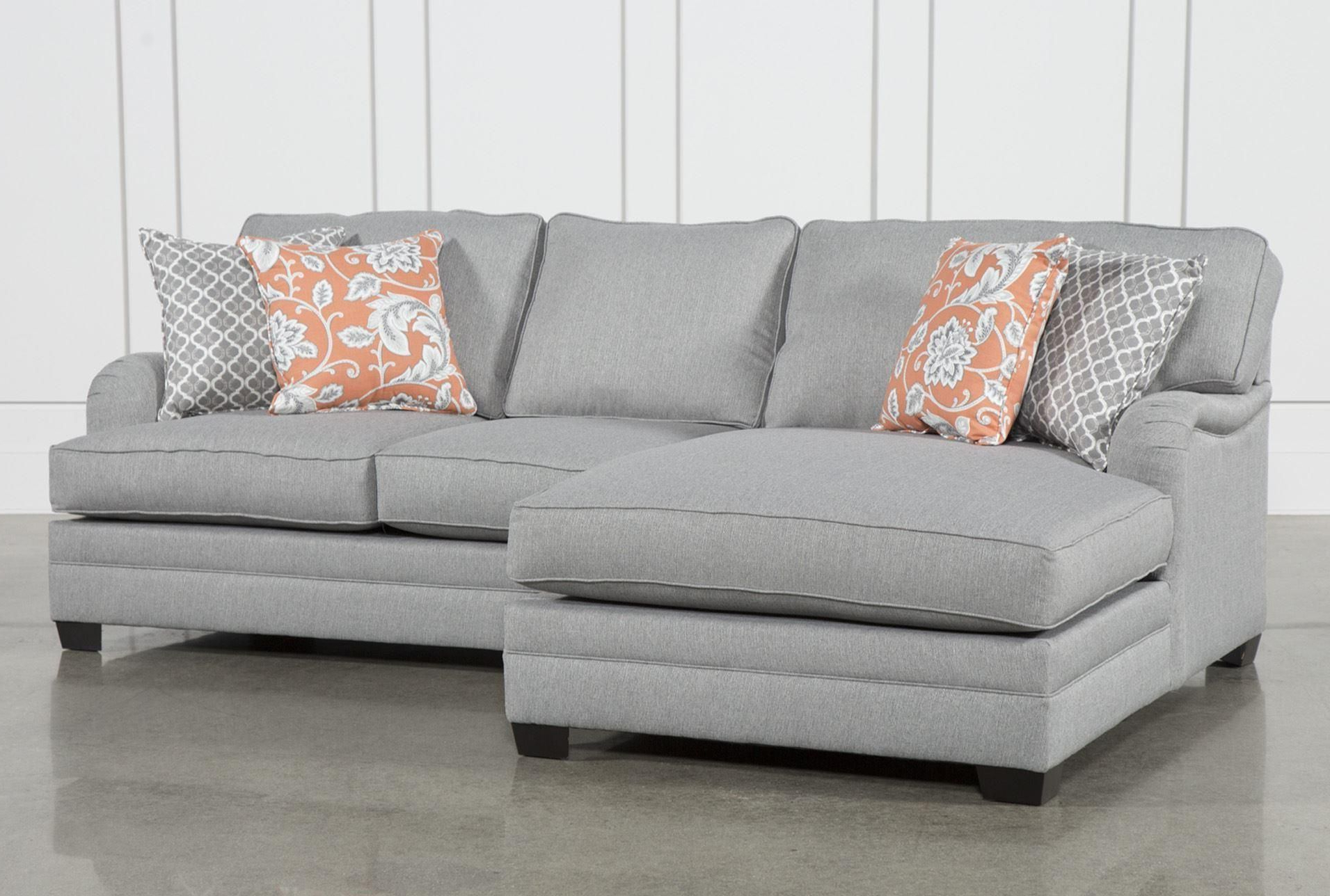 Well Liked Mcculla Sofa Sectionals With Reversible Chaise Regarding Marissa 2 Piece Sectional W/laf Chaise, Grey, Sofas (View 19 of 20)