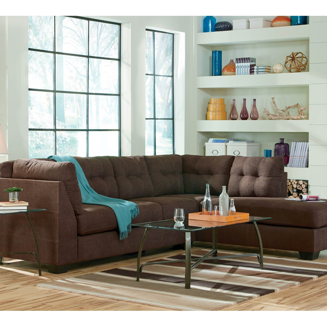 Well Liked Meyer 3 Piece Sectionals With Laf Chaise With Benchcraft Maier 2 Pc (View 19 of 20)