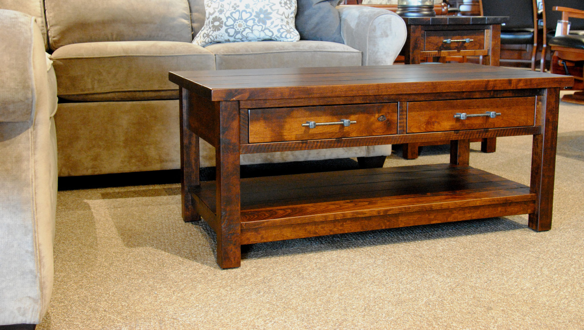 Well Liked Mill Coffee Tables Within Timber Mill Coffee Table – Gish's Amish Legacies (View 9 of 20)