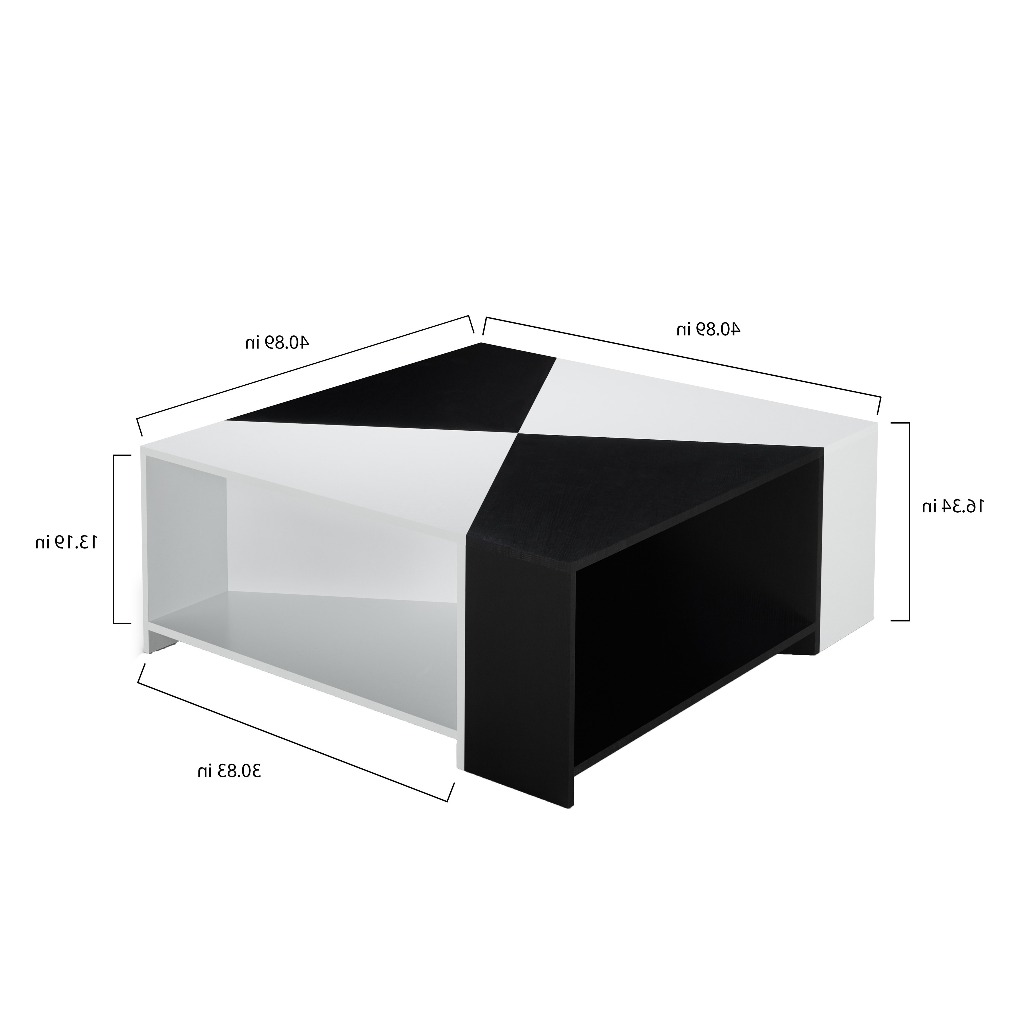 Well Liked Modular Coffee Tables With Shop Furniture Of America Clerington Modern Two Tone Black/white (View 17 of 20)