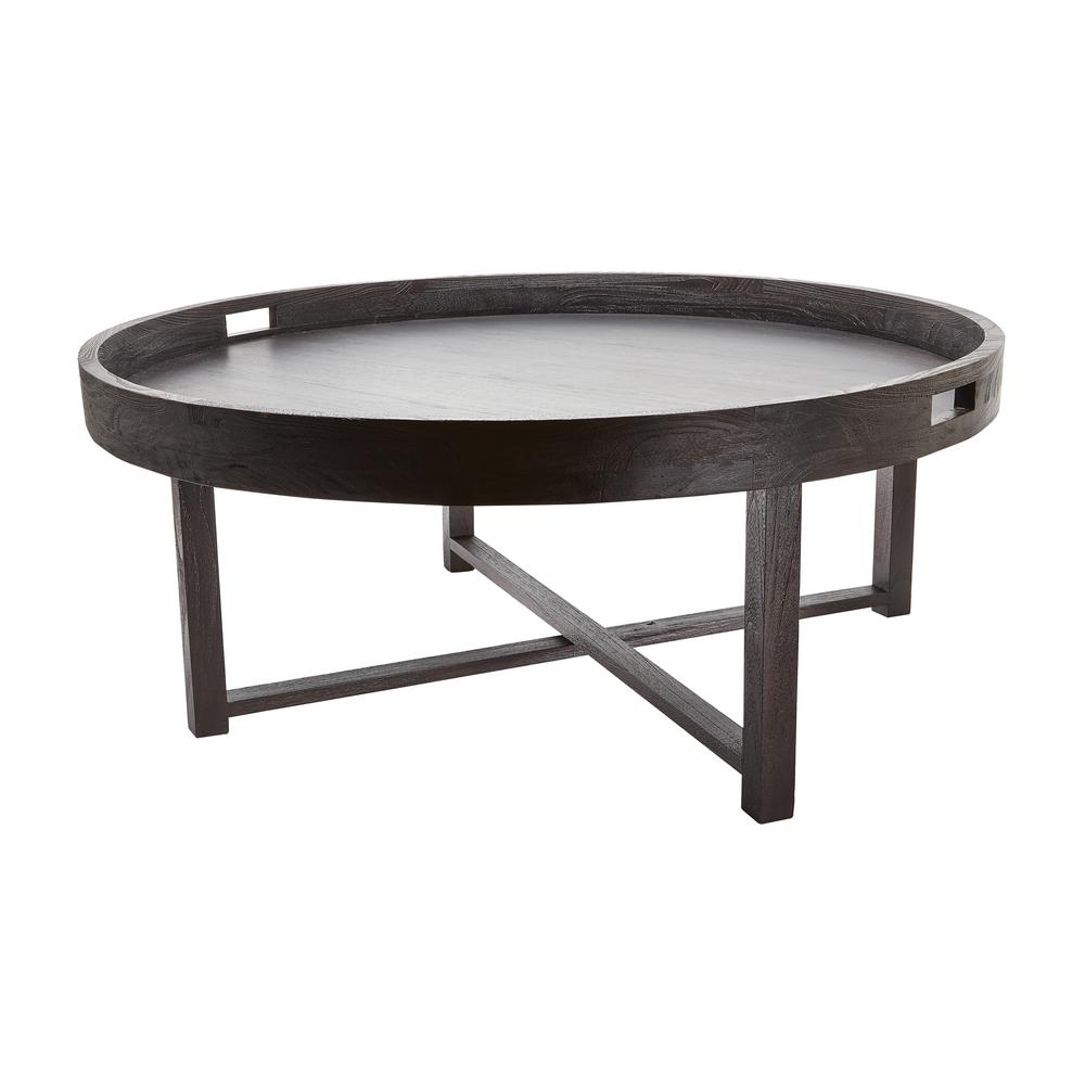 Well Liked Round Teak Coffee Tables In Titan Lighting Round Brown Teak Coffee Table Tn 892407 – The Home Depot (View 9 of 20)