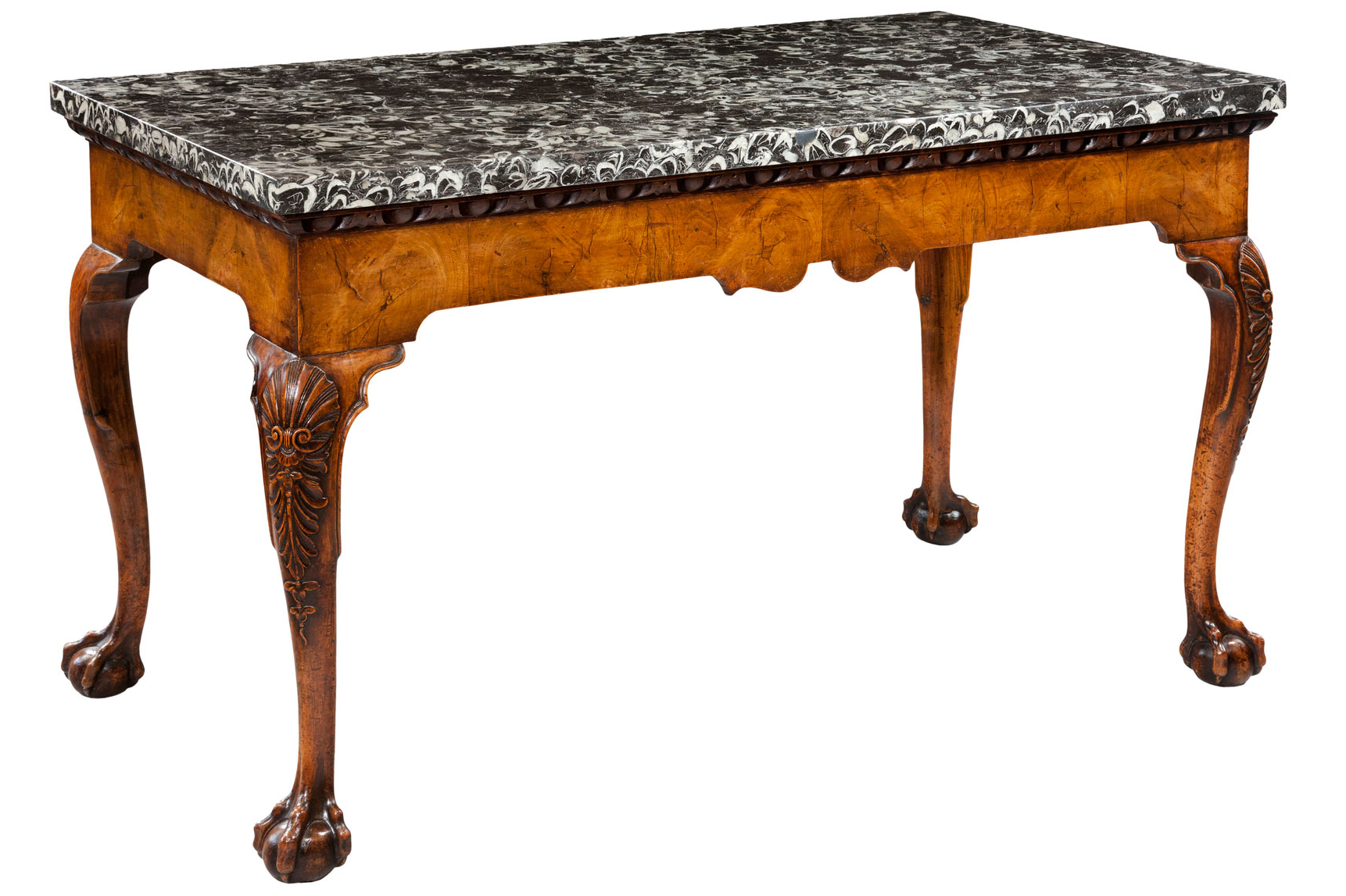 Well Liked Slab Small Marble Coffee Tables With Antiqued Silver Base Regarding Antique Marble Top Tables (View 7 of 20)