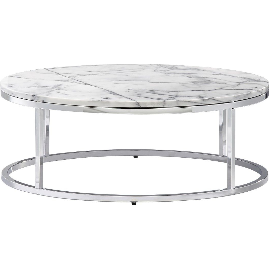 Well Liked Smart Round Marble Top Coffee Table (View 3 of 20)