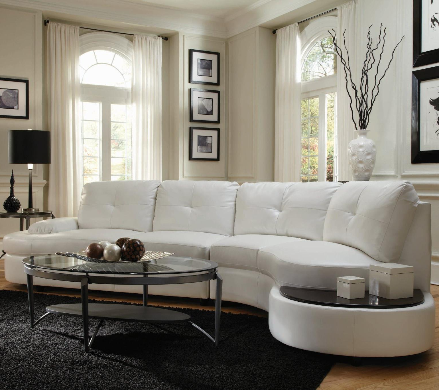 Well Liked Talia Contemporary Sectional Conversation Sofa With Built In Table Pertaining To Contemporary Curves Coffee Tables (View 20 of 20)