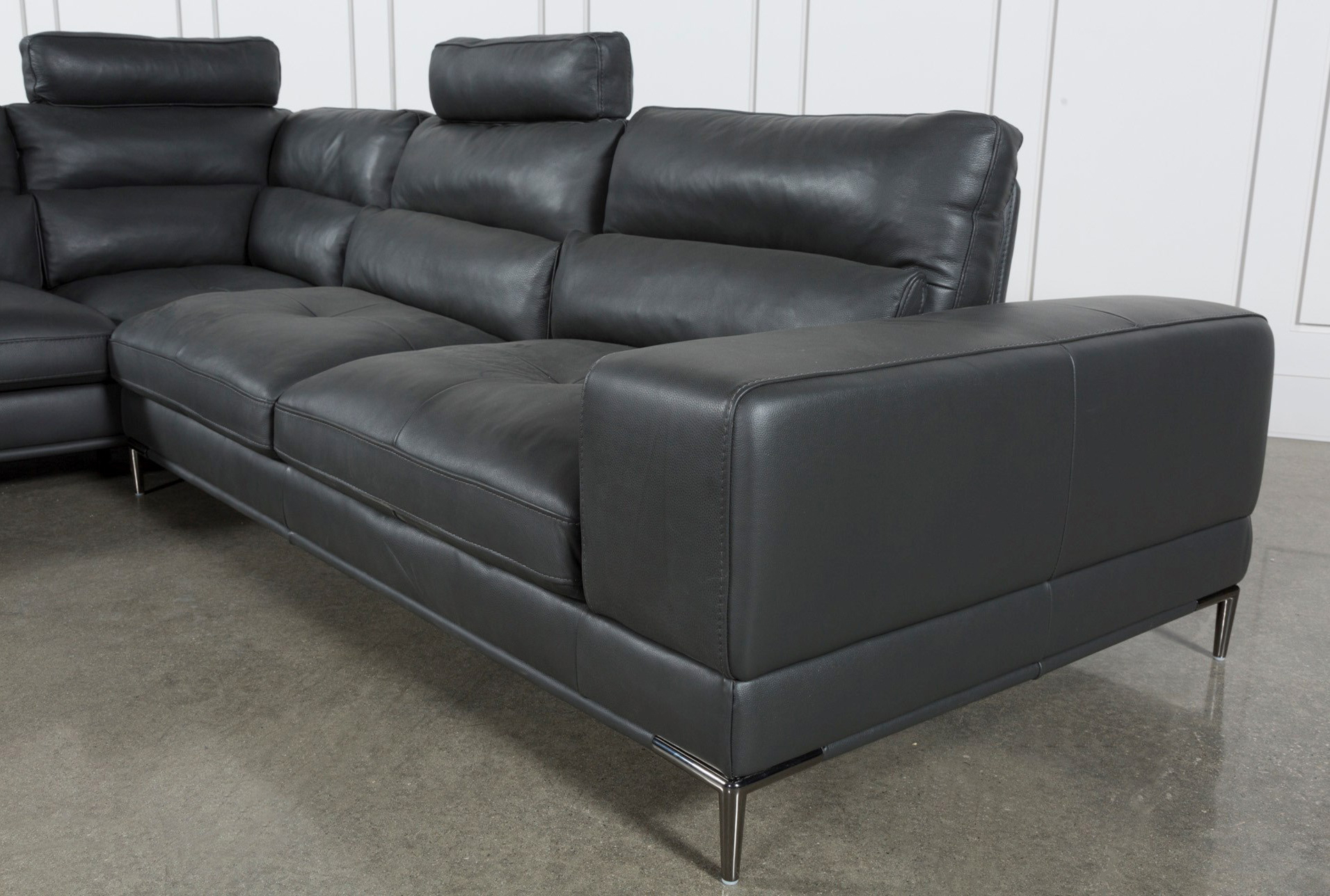 Well Liked Tenny Dark Grey 2 Piece Right Facing Chaise Sectional W/2 Headrest Pertaining To Tenny Dark Grey 2 Piece Right Facing Chaise Sectionals With 2 Headrest (View 20 of 20)