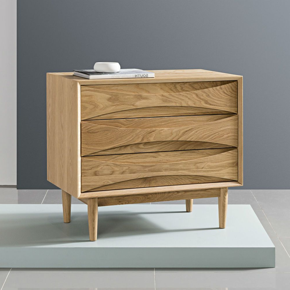 Well Liked Tobias 4 Door Sideboards Within Arne 3 Drawer Cabinet – Solid Oak – 80X45X72Cm // Buy Now Aud$1,699 (Gallery 9 of 20)