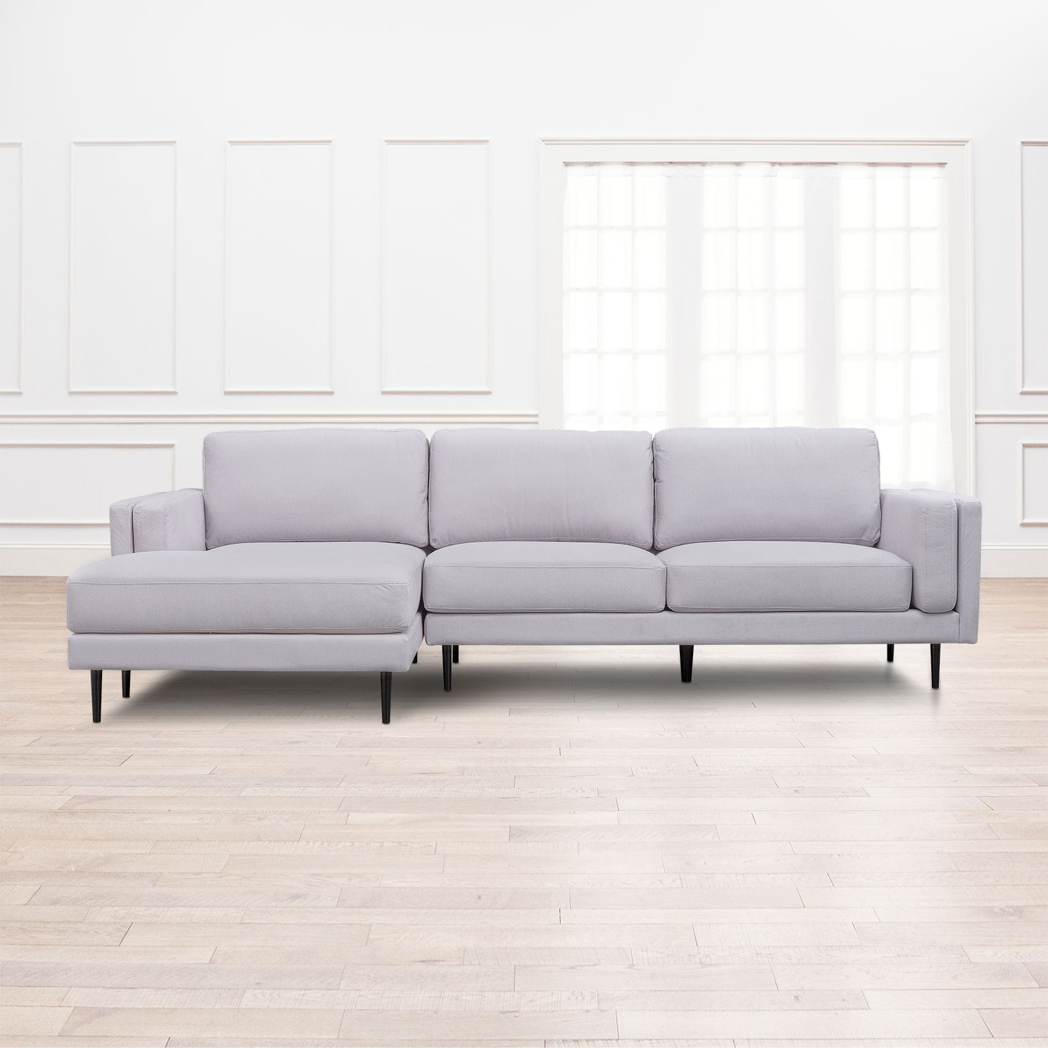 West End 2 Piece Sectional With Right Facing Chaise – Light Gray In Well Liked Mcdade Graphite 2 Piece Sectionals With Laf Chaise (View 1 of 20)