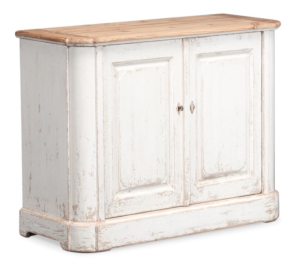 White Wash 2 Door Sideboards Within Famous Antique White Wash Sideboard, 2 Door , Sarreid Ltd Portal ! (View 7 of 20)