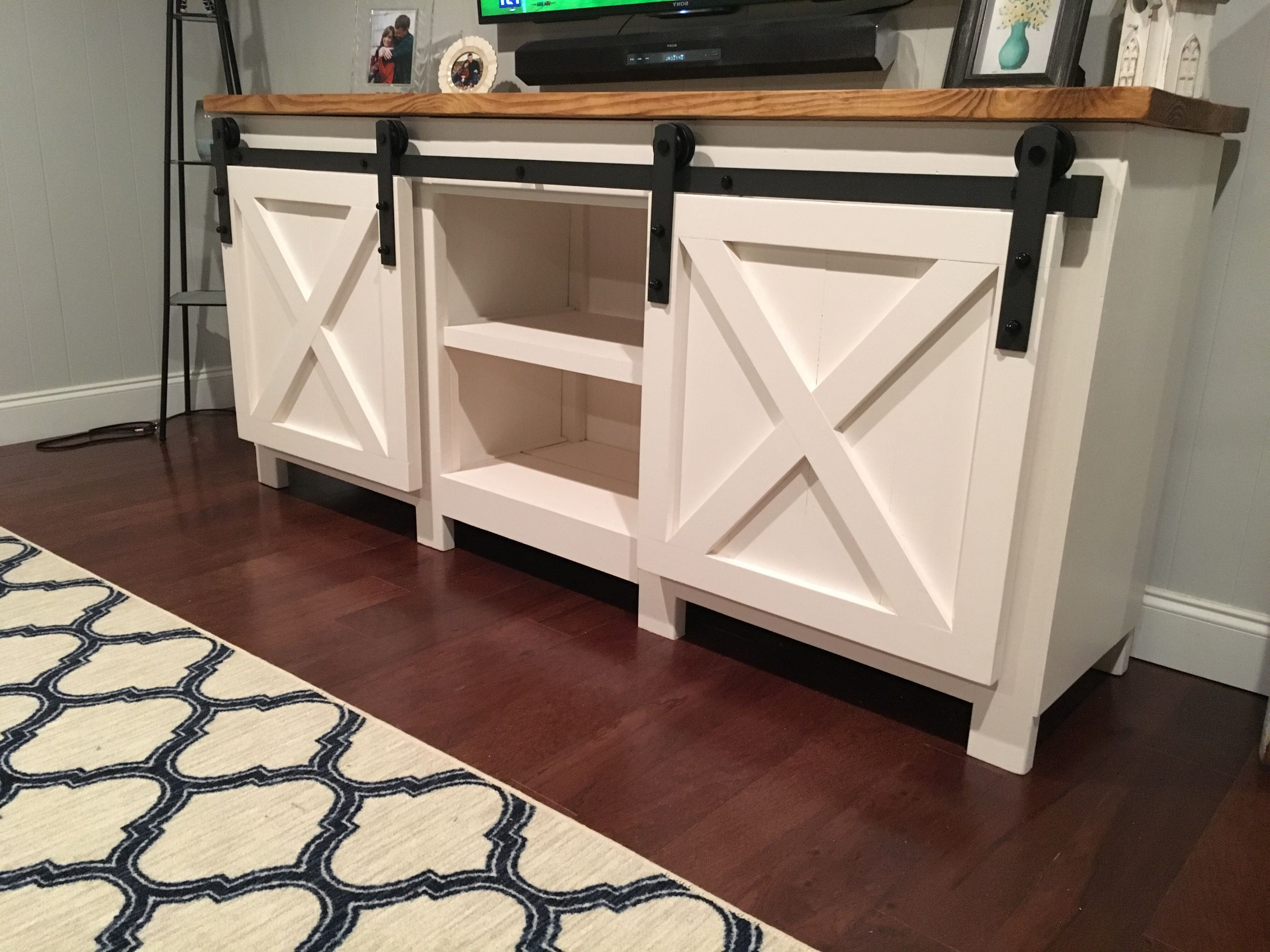 White Wash 4 Door Galvanized Sideboards With Well Liked 11 Free Diy Tv Stand Plans You Can Build Right Now (View 18 of 20)