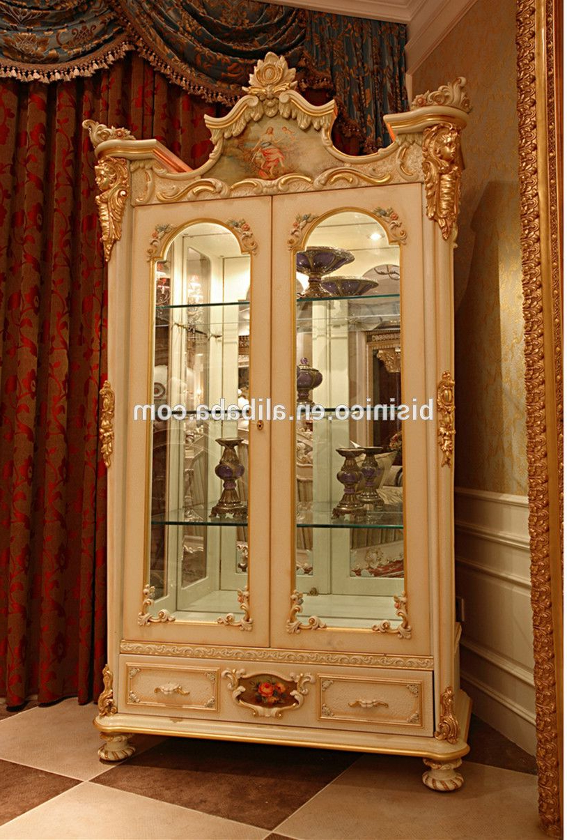White Wash Carved Door Jumbo Sideboards Pertaining To 2019 Luxury French Rococo Style Goldleaf Angel Buffet Table/ Classic (Gallery 7 of 20)