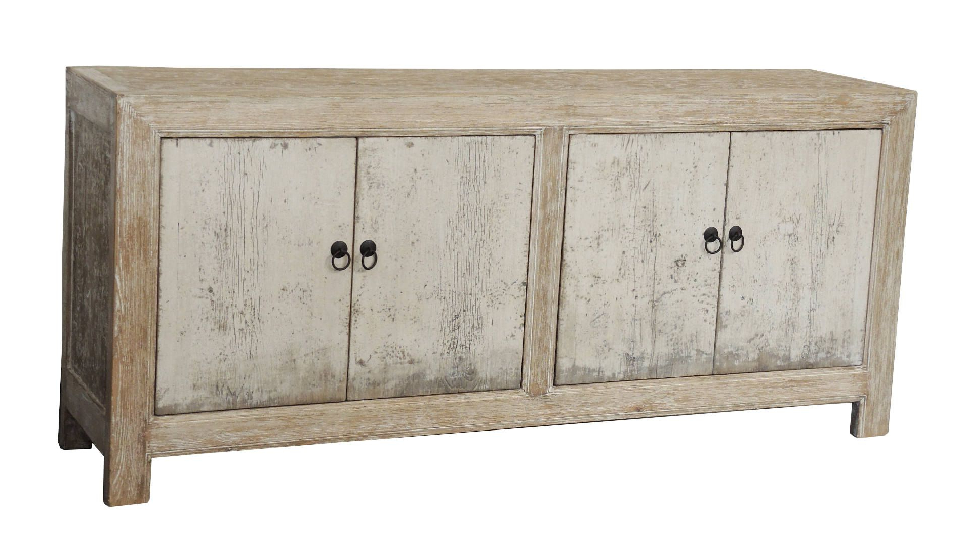 White Wash Distressed 4 Door Sideboard From Terra Nova Designs With Regard To Well Known White Wash 4 Door Sideboards (Gallery 6 of 20)