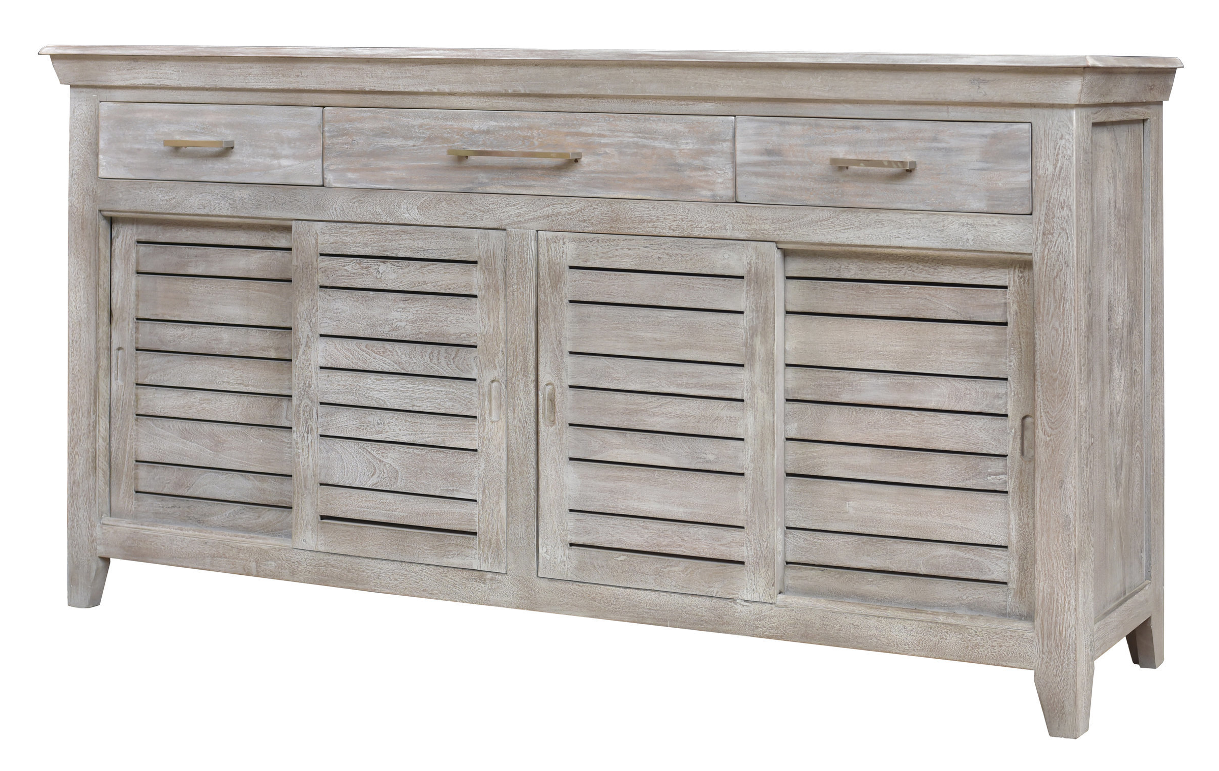 Widely Used 3 Door 3 Drawer Metal Inserts Sideboards Within Fairwinds Sideboard (View 19 of 20)