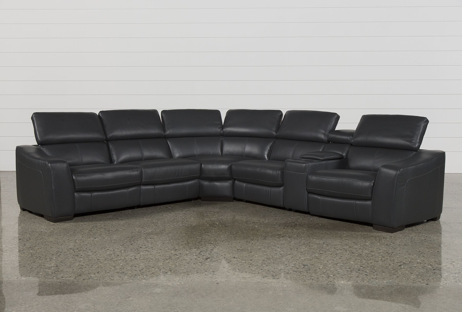 Widely Used 6 Piece Power Reclining Sectional, Kristen Slate Grey, Sofas Pertaining To Tess 2 Piece Power Reclining Sectionals With Laf Chaise (View 20 of 20)