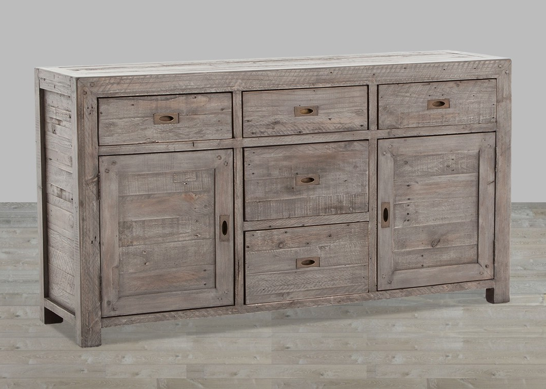 Widely Used Aged Mirrored 2 Door Sideboards In Reclaimed Wood Sideboard From Wine Cabinet — Rocket Uncle Rocket Uncle (View 20 of 20)