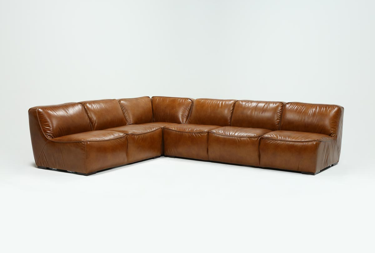 Featured Photo of Burton Leather 3 Piece Sectionals With Ottoman