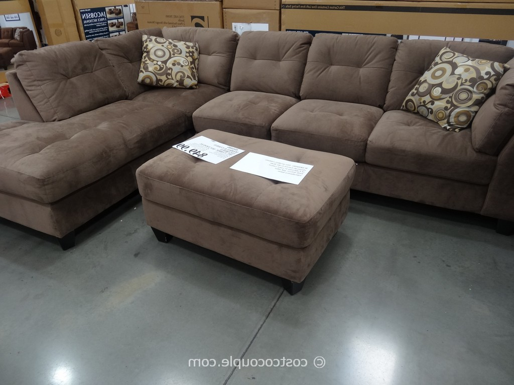 Widely Used Burton Leather 3 Piece Sectionals Within Sectionals Sofas Costco (View 20 of 20)