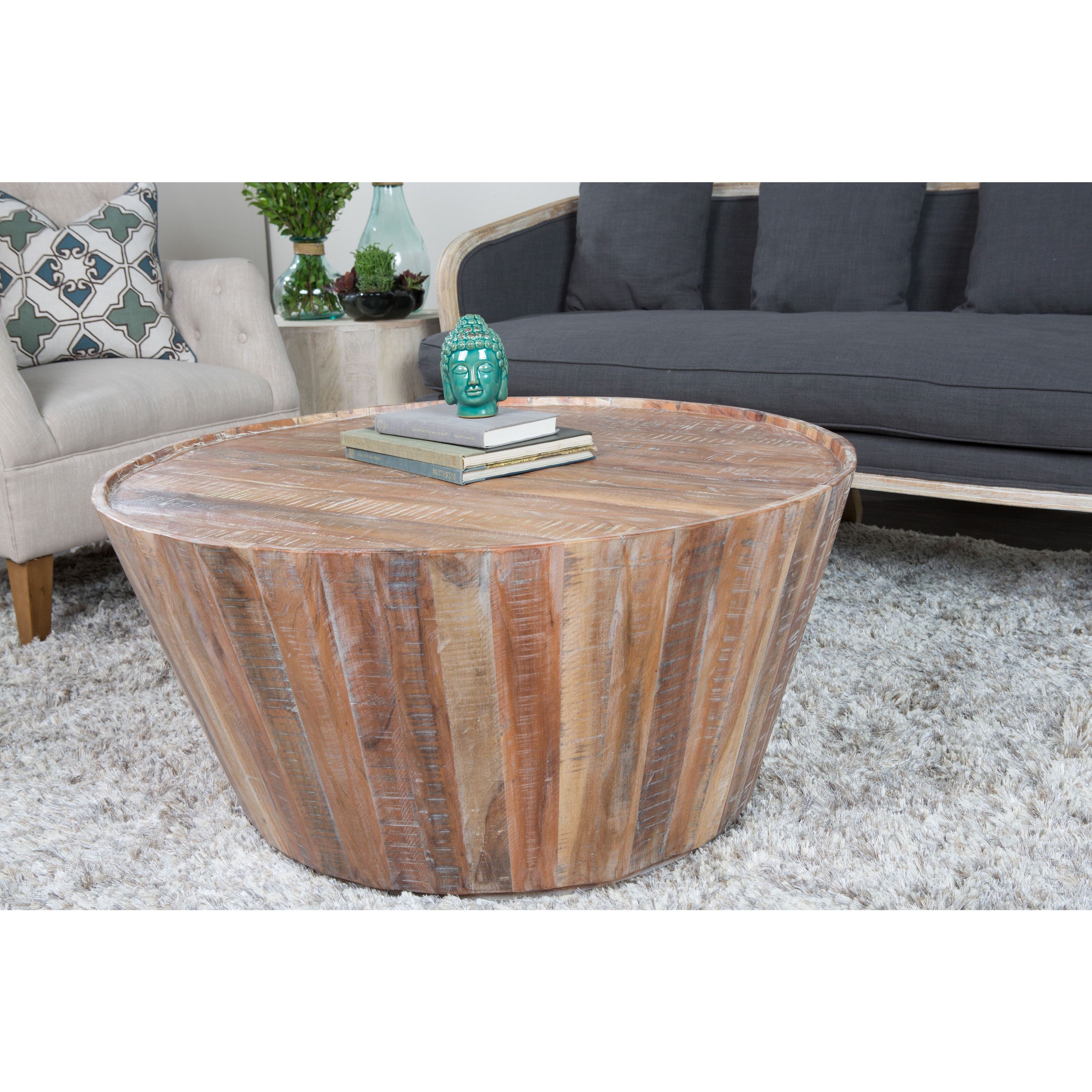 Widely Used Constructed From Distressed Acacia Wood, The Kosas Home Hamshire Intended For Limewash Coffee Tables (View 12 of 20)