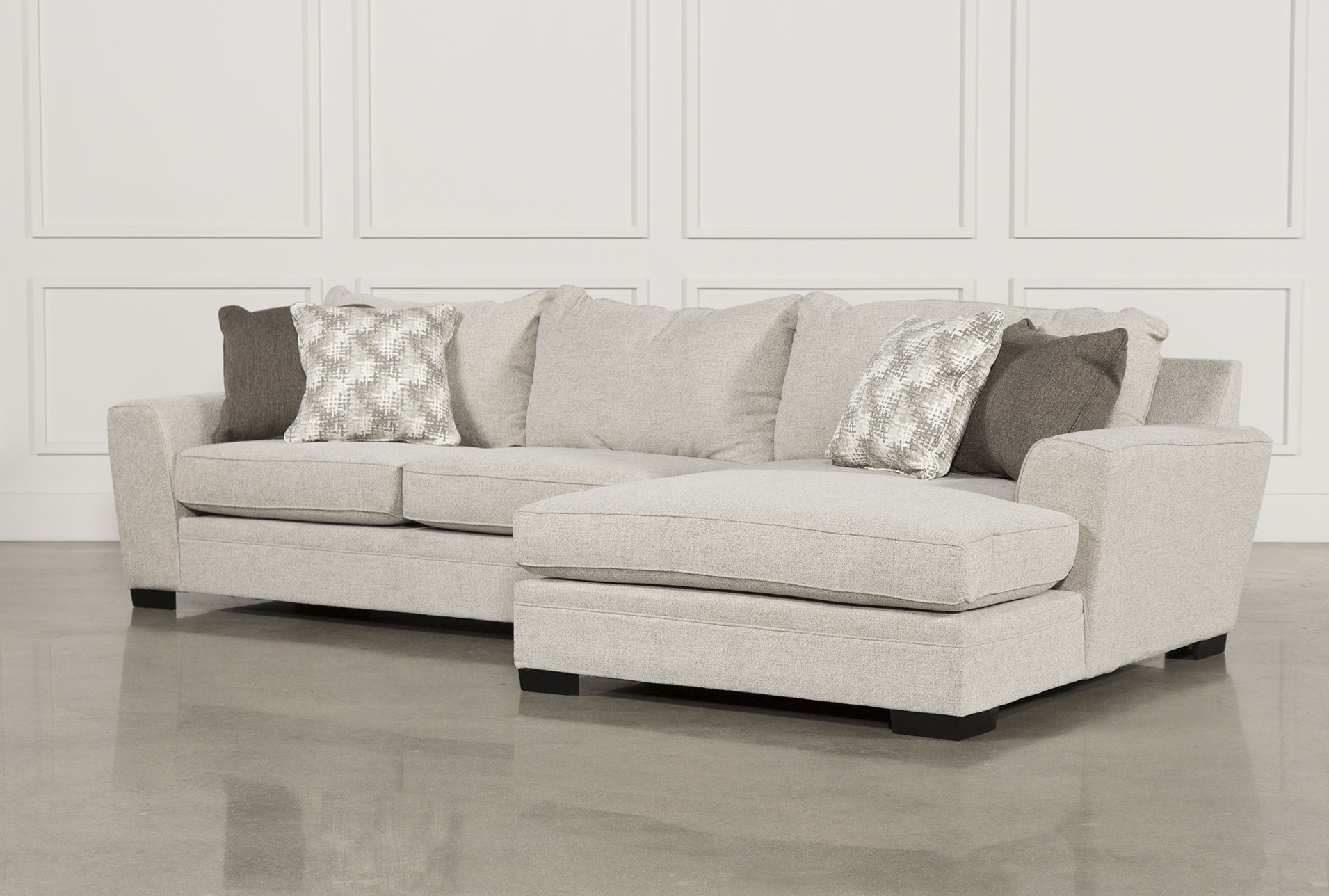 Widely Used Delano 2 Piece Sectional W/laf Oversized Chaise Living Spaces With Regard To Arrowmask 2 Piece Sectionals With Raf Chaise (View 11 of 20)