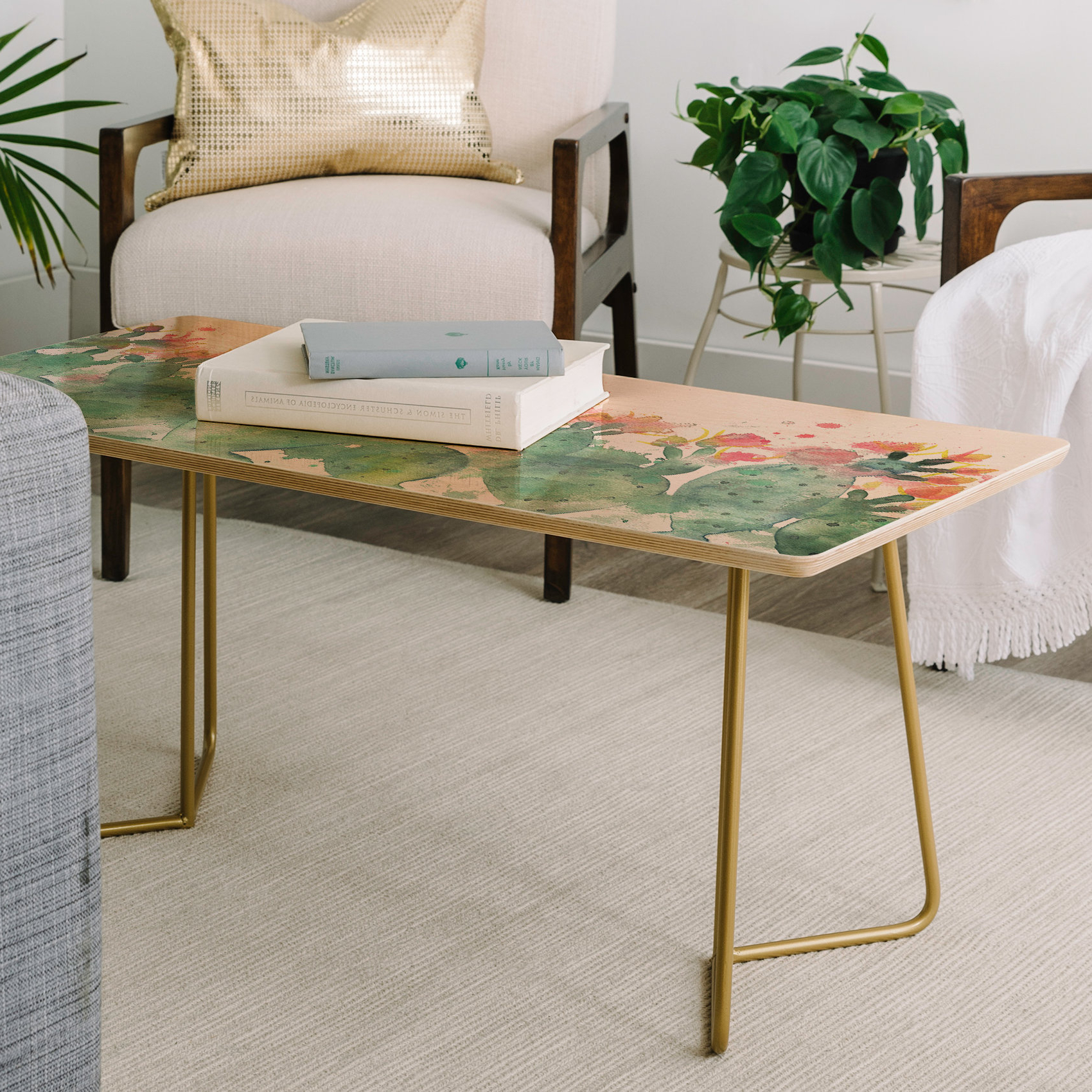 Widely Used East Urban Home Dash And Ash Messy Cactus Coffee Table (View 6 of 20)