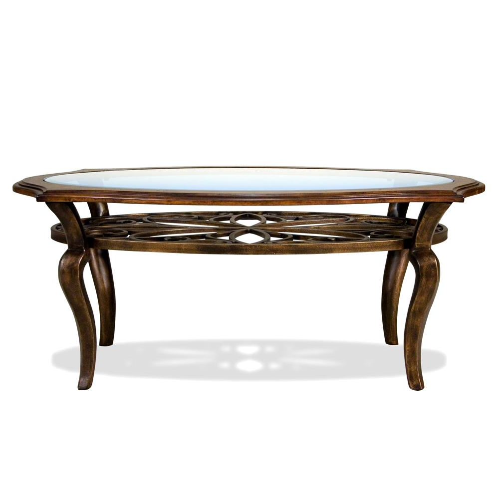 Widely Used Exton Cocktail Tables Intended For Riverside Furniture Serena Oval Coffee / Cocktail Table – Ahfa (Gallery 7 of 20)