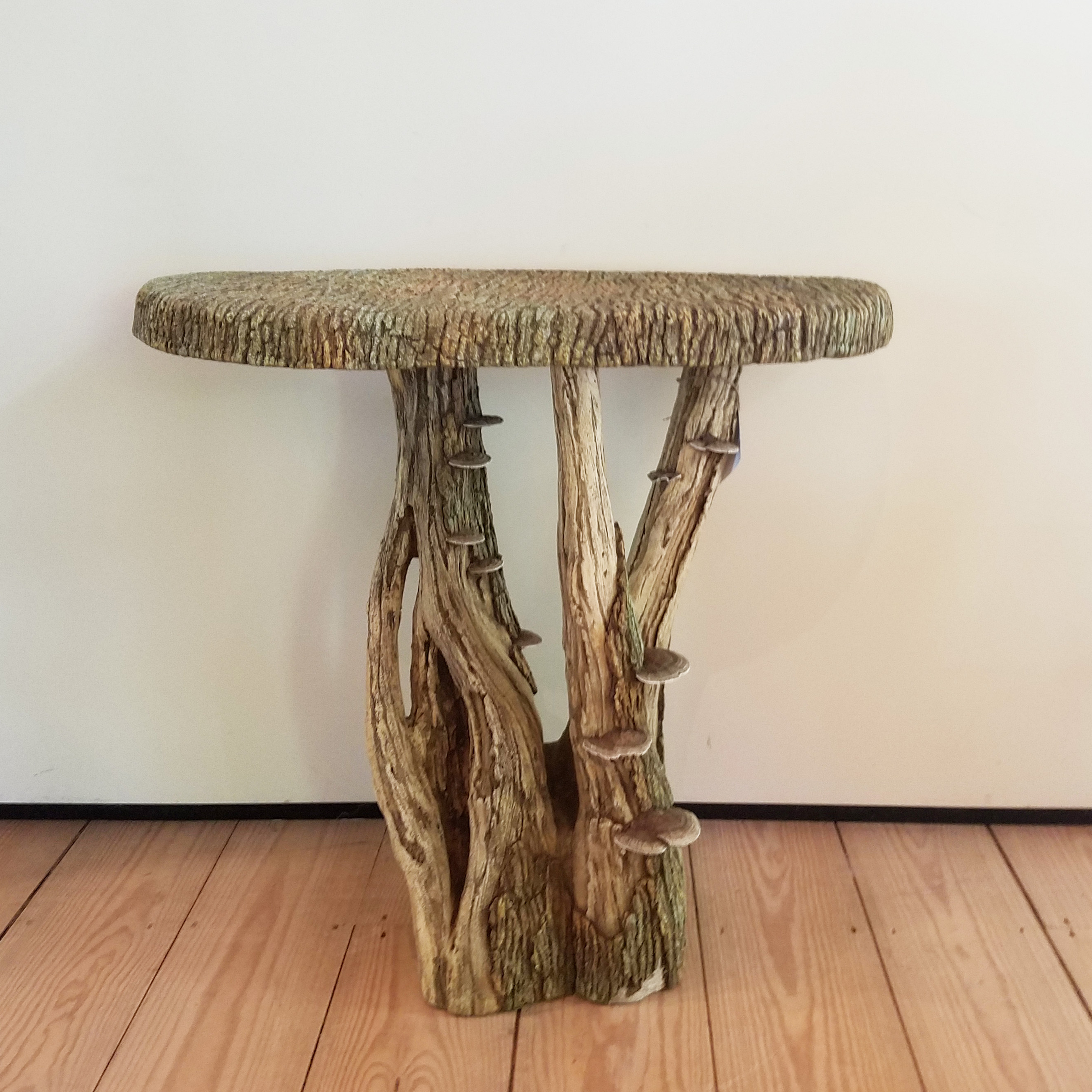 Widely Used Faux Bois Coffee Tables With Regard To Faux Bois Demi Lune Table – Rt Facts (View 8 of 20)