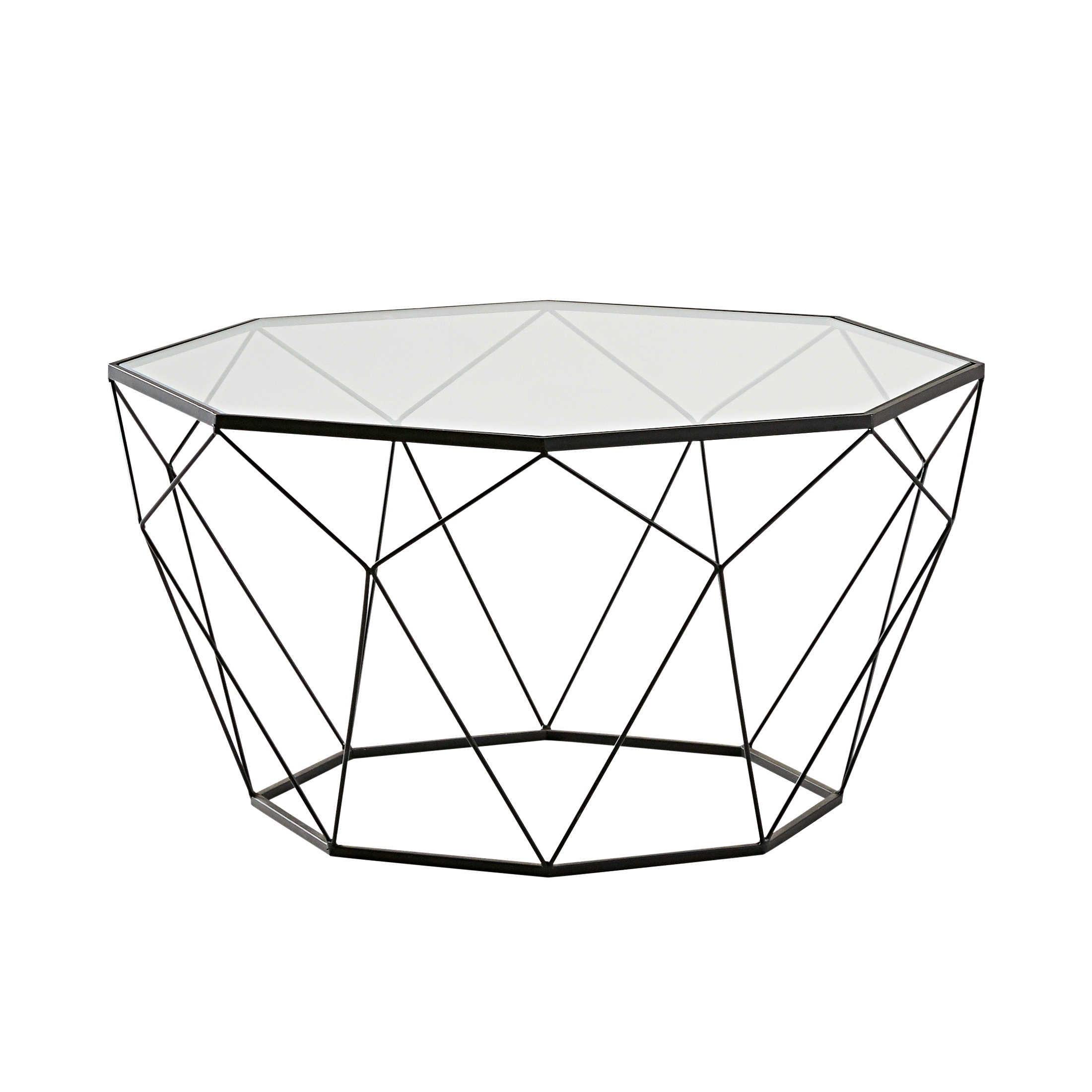 Widely Used Flat Black And Cobre Coffee Tables Regarding Couchtisch Aus Schwarzem Metall, Mit Sicherheitsglas In 2018 (Gallery 4 of 20)
