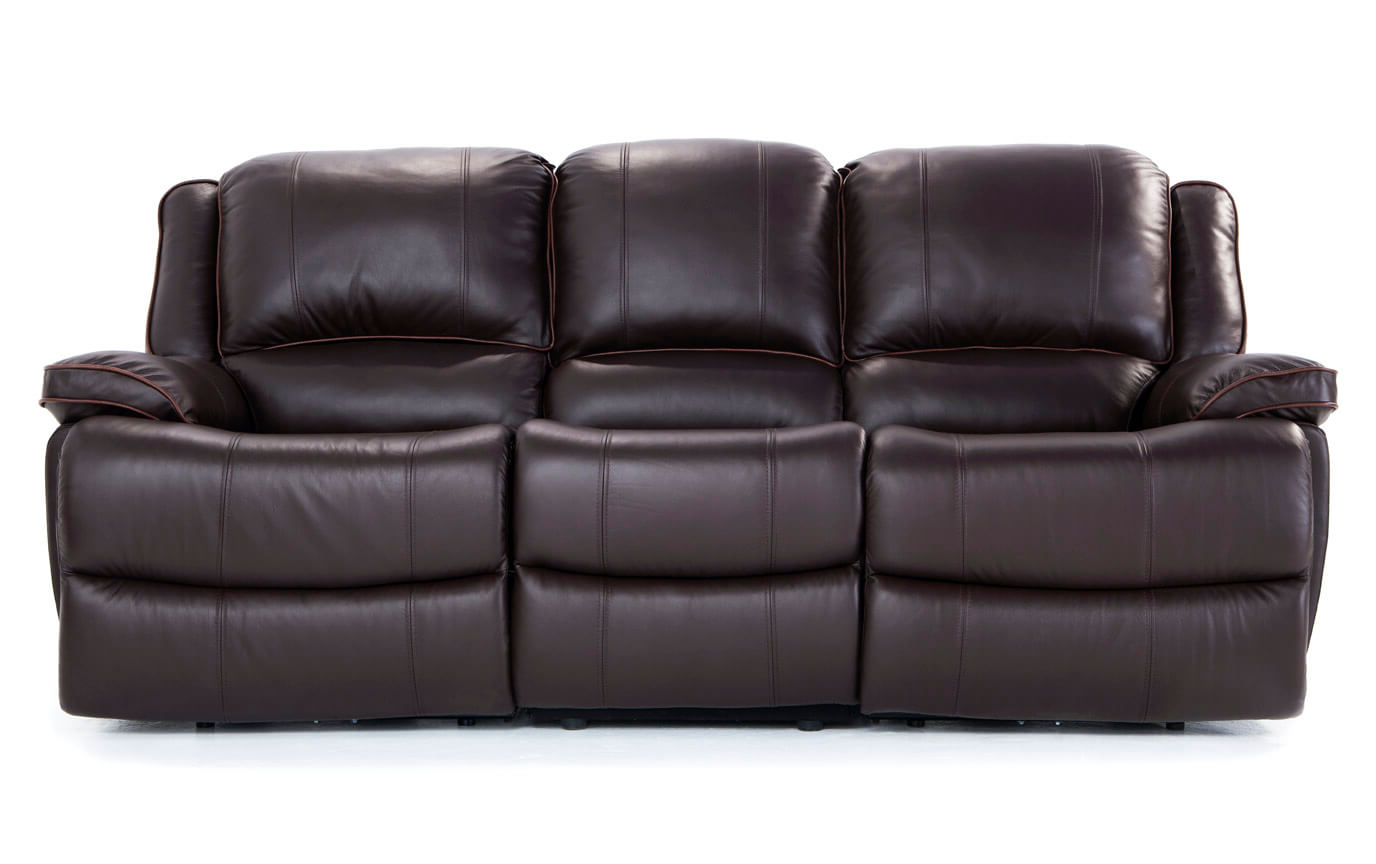 Widely Used Full Grain Leather Power Reclining Sofa – Leather Sofa Ideas In Clyde Saddle 3 Piece Power Reclining Sectionals With Power Headrest & Usb (View 5 of 20)