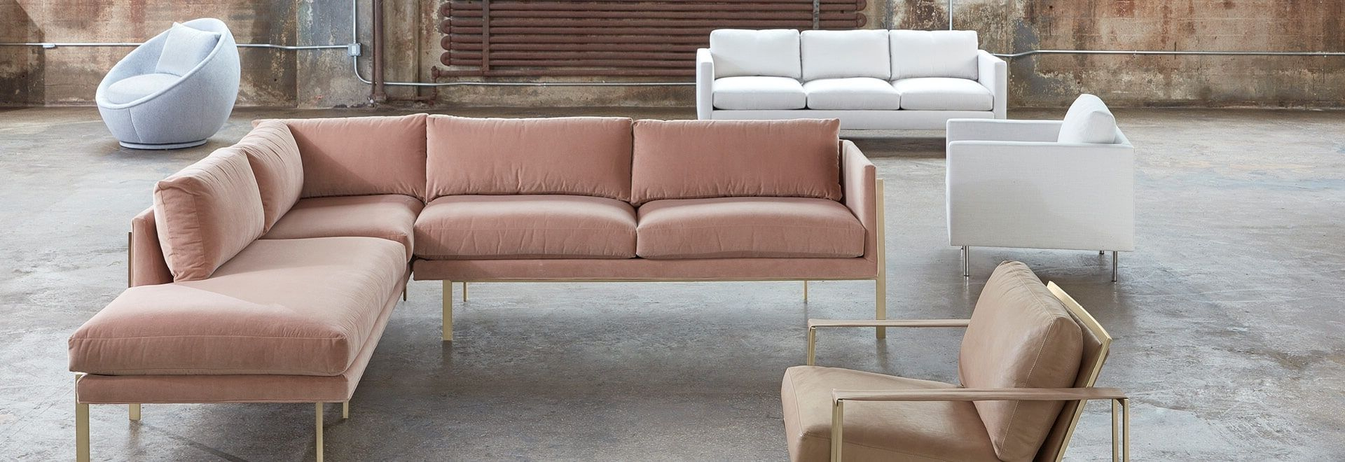 Widely Used Harper Down 3 Piece Sectionals Regarding Modern Sectional Sofas For Apartments At Abc Home & Carpet (View 6 of 20)