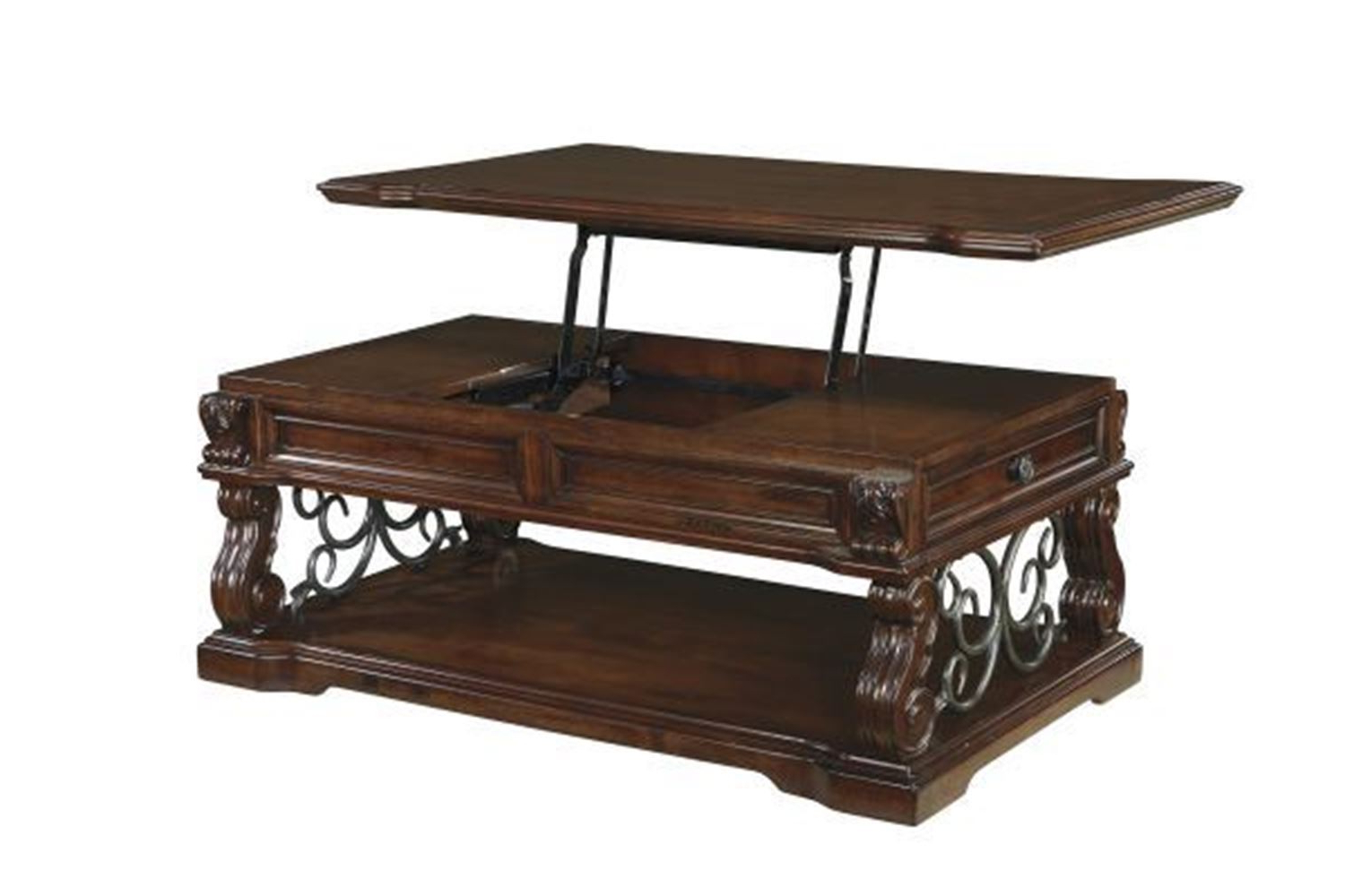 Widely Used Jaxon Grey Lift Top Cocktail Tables For Lift Top Coffee Table In Fashionable Magnussen Madison Collection (View 7 of 20)