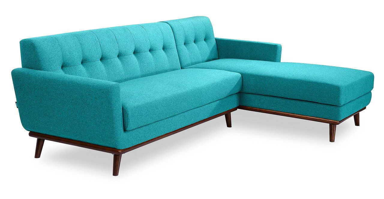 Widely Used Kardiel Jackie Midcentury Modern Sectional Sofa Left Turquoise Pertaining To Calder Grey 6 Piece Manual Reclining Sectionals (View 20 of 20)