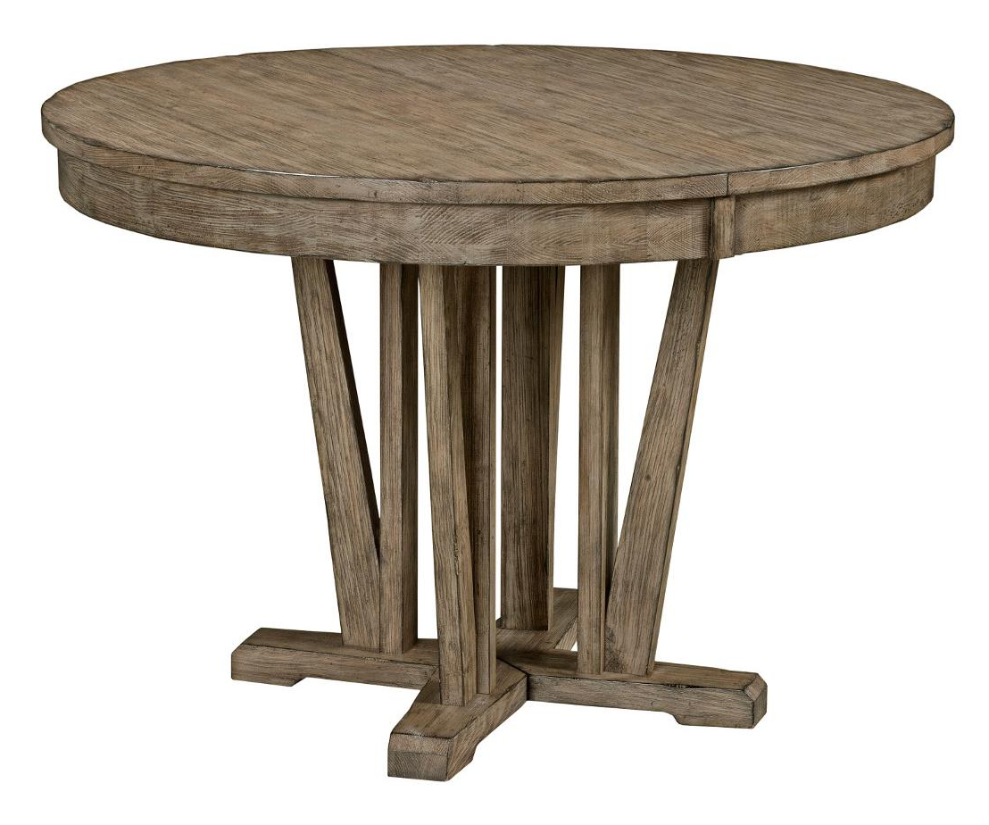 Widely Used Kincaid Furniture Foundry Rustic Round Weathered Gray Dining Table Regarding Foundry Cocktail Tables (View 20 of 20)