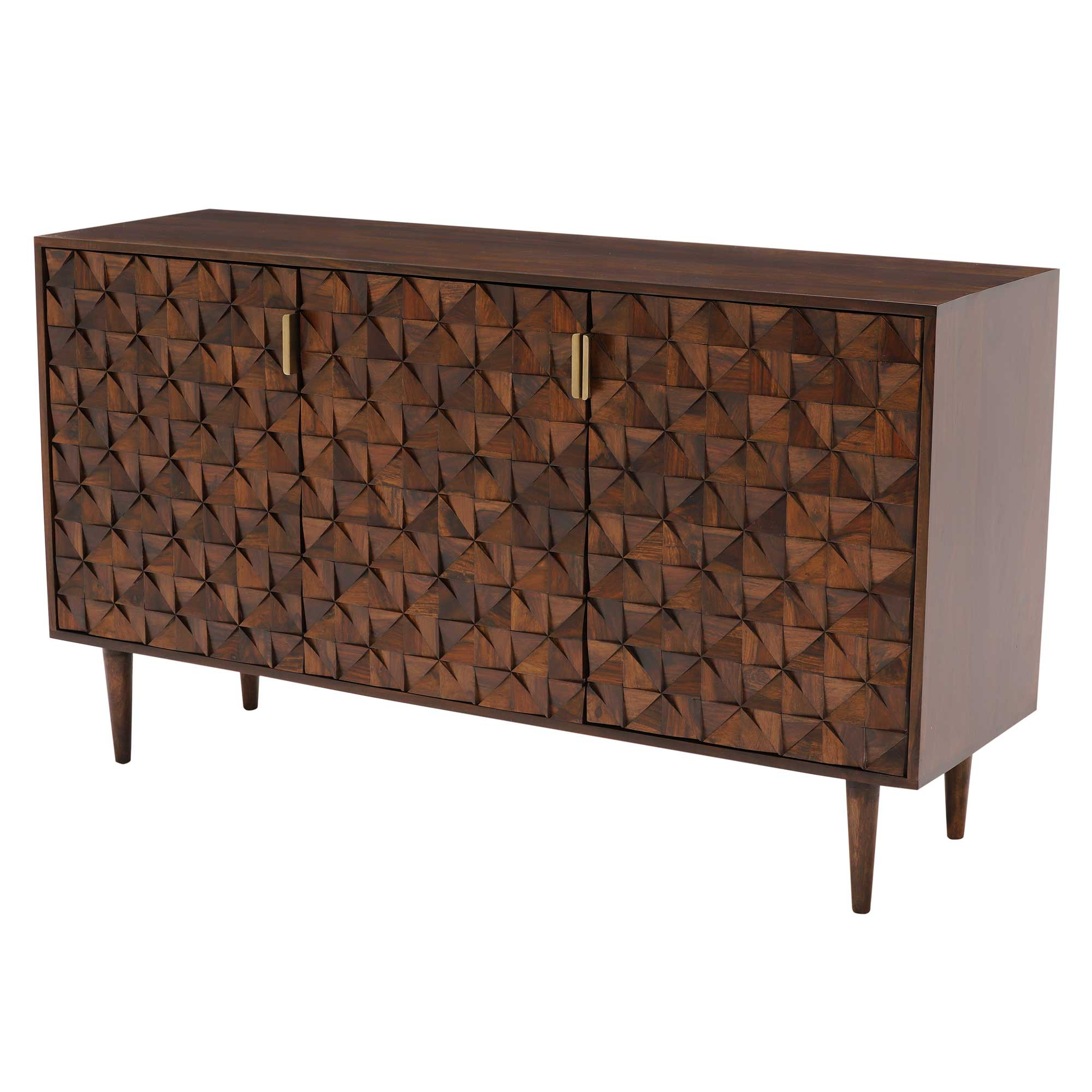 Featured Photo of Walnut Finish 2 Door/3 Drawer Sideboards
