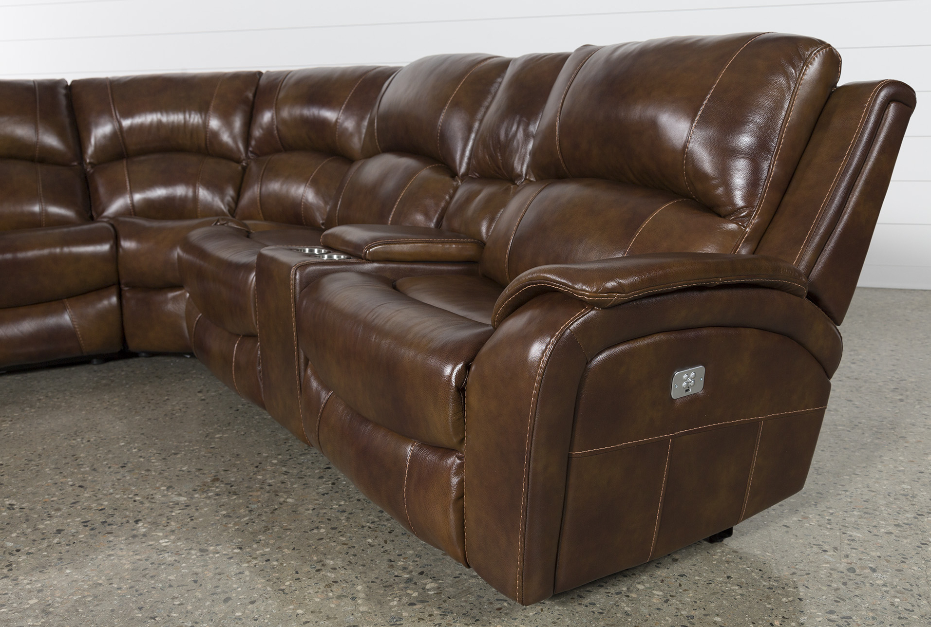 Widely Used Lincoln Aged Leather Chesterfield – 2 Seater For Travis Cognac Leather 6 Piece Power Reclining Sectionals With Power Headrest & Usb (View 3 of 20)