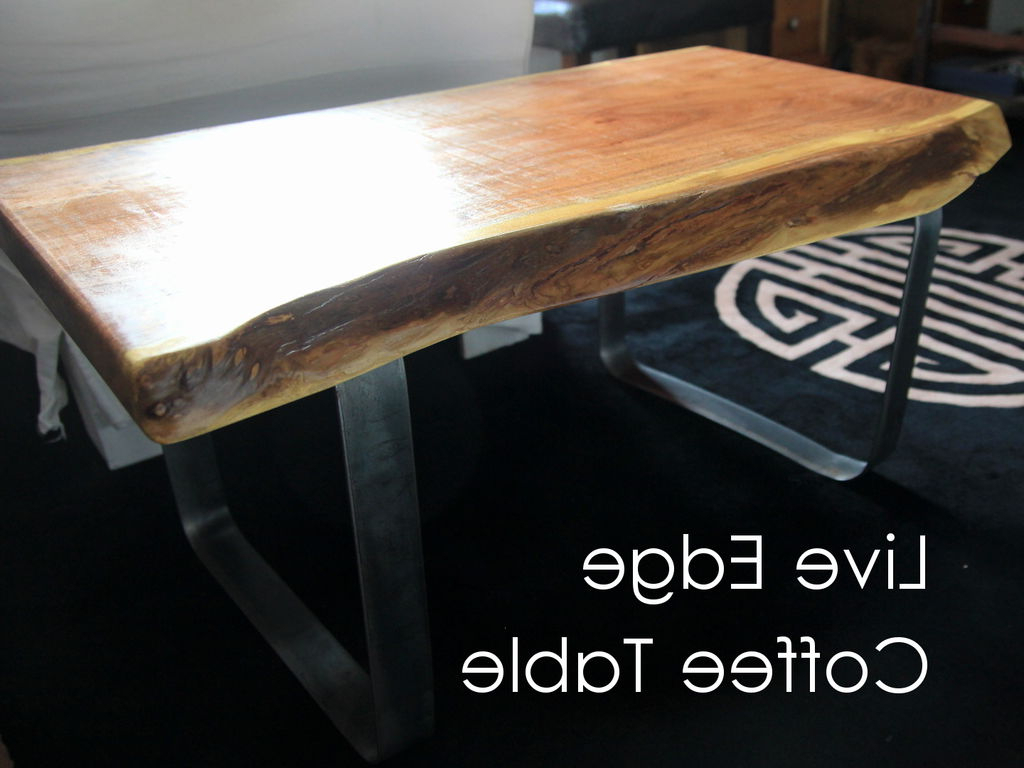 Widely Used Live Edge Coffee Table W/ Metal Base: 8 Steps (with Pictures) In Chiseled Edge Coffee Tables (View 2 of 20)