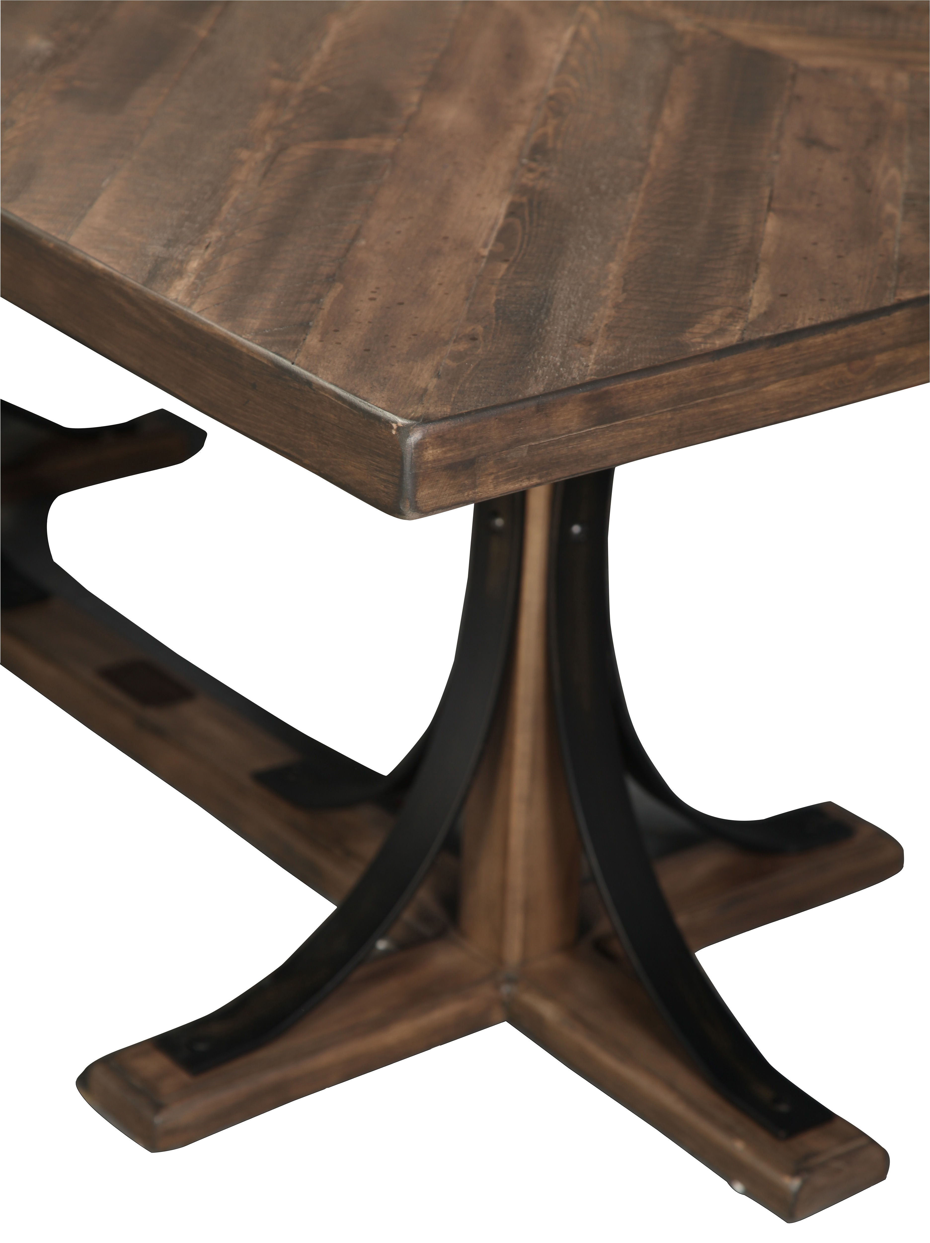 Widely Used Magnolia Home Iron Trestle Cocktail Tables Throughout Magnolia Home Traditional Iron Trestle Table (View 4 of 20)