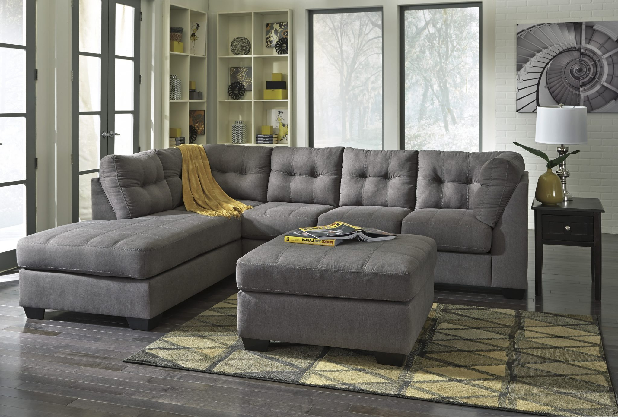 Widely Used Meyer 3 Piece Sectionals With Laf Chaise With Regard To Ashley 452 Maier Sectional – $ (View 10 of 20)