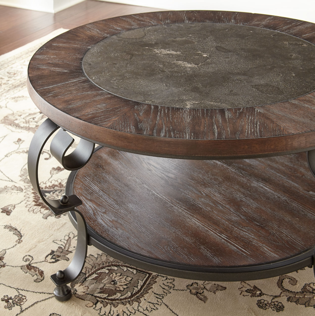 Widely Used Mulberry Round Cocktail Table – Brown's Furniture Showplace Within Zander Cocktail Tables (View 15 of 20)