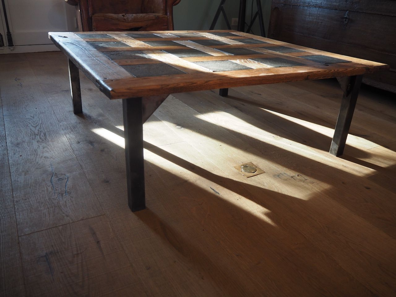 Widely Used Parquet Coffee Tables Regarding Mid Century Parquet Coffee Table, 1950s For Sale At Pamono (View 13 of 20)