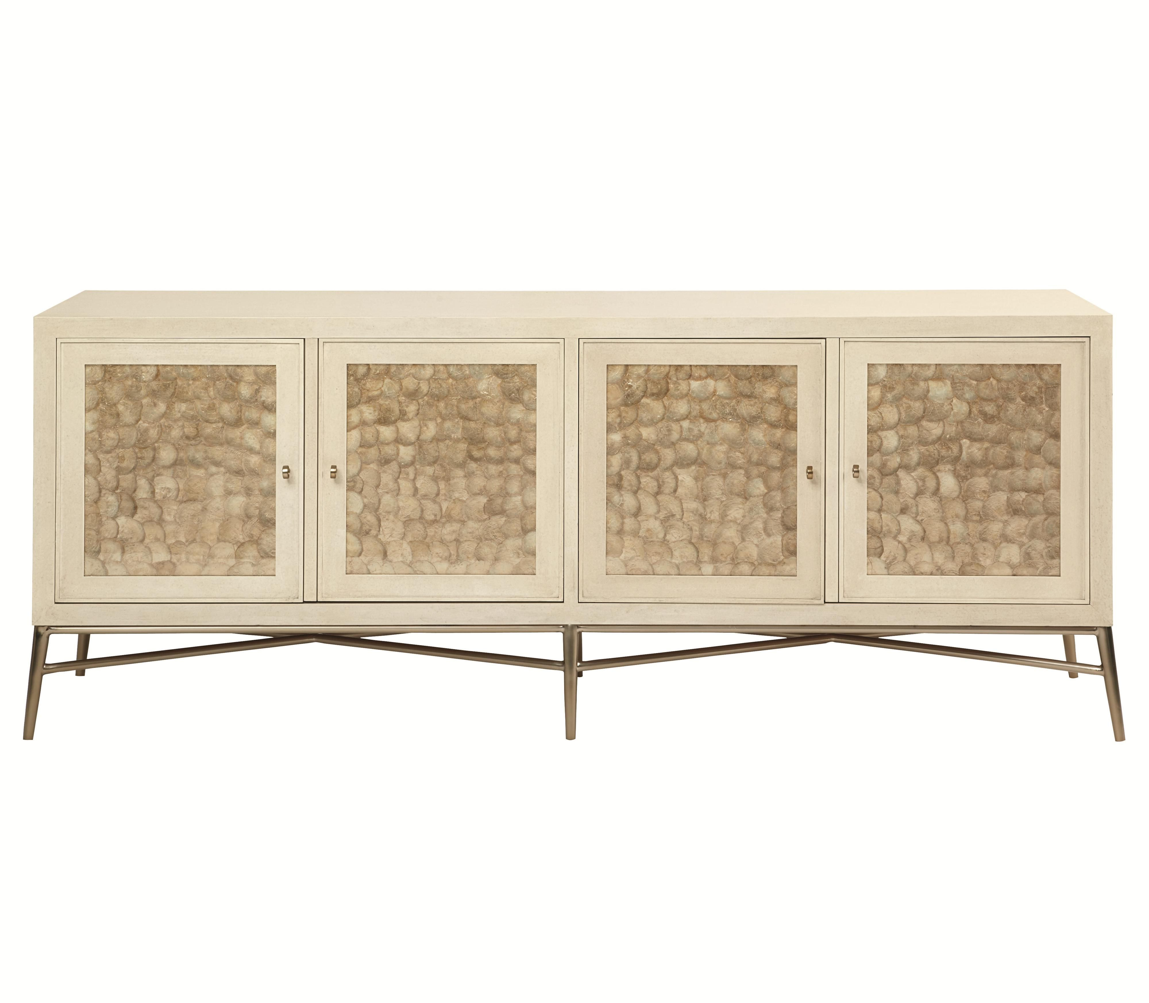 Widely Used Salon 4 Door Buffet With Inset Capiz Shellsbernhardt (View 10 of 20)