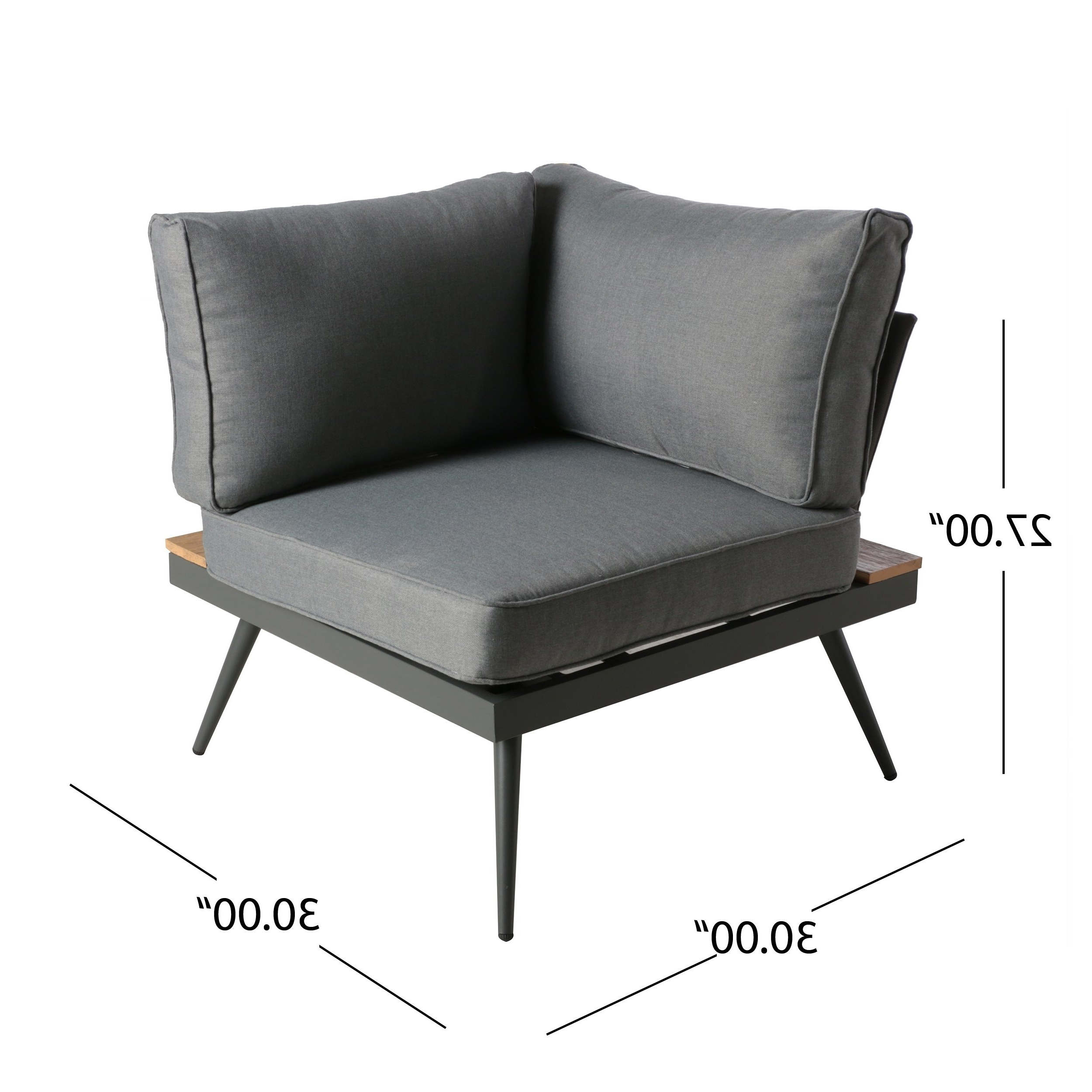 Widely Used Shop Norfolk Outdoor V Shaped 5 Seater Sofa Setchristopher Inside Norfolk Grey 6 Piece Sectionals With Raf Chaise (View 20 of 20)