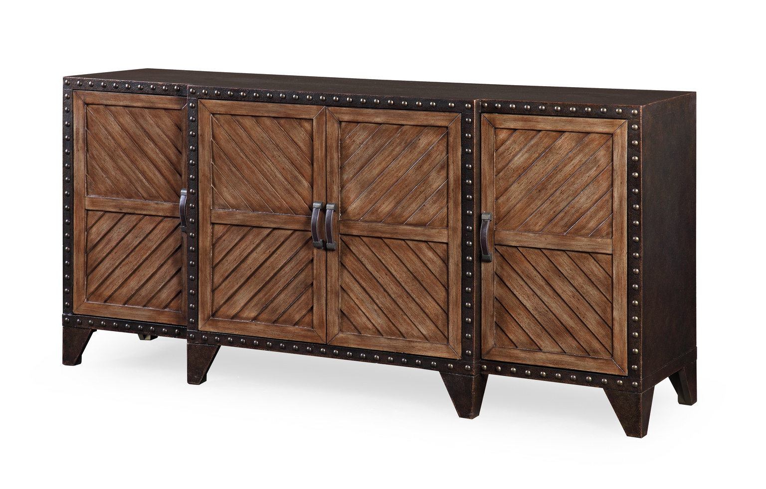 Widely Used Sideboards, Cabinets, Shelving Inside Reclaimed Pine & Iron 4 Door Sideboards (Gallery 17 of 20)