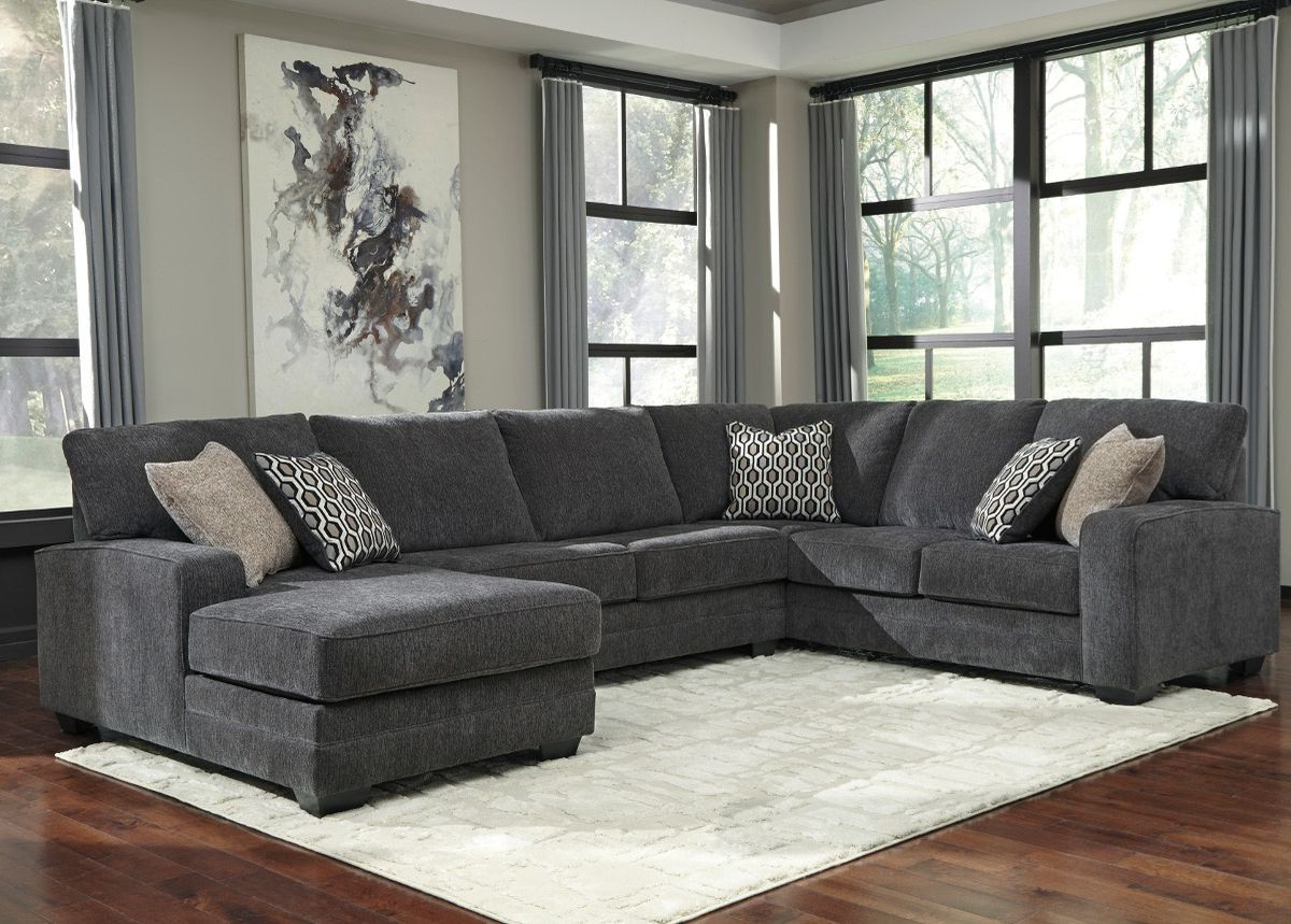Widely Used Sierra Foam Ii 3 Piece Sectionals In Ashley Furniture Tracling 3 Piece Sectional With Raf Chaise In Slate (View 13 of 20)