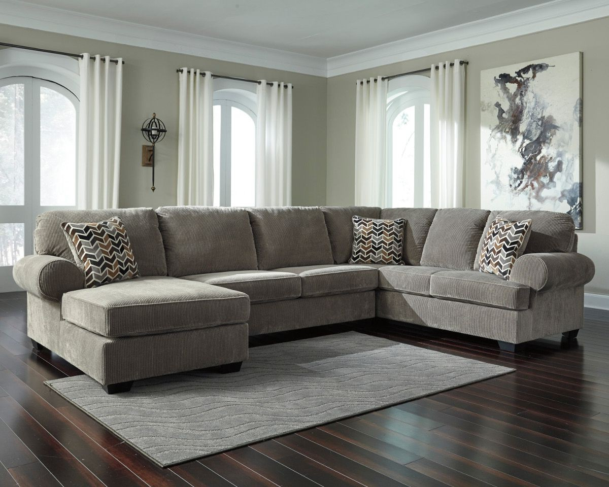 Widely Used Sierra Foam Ii 3 Piece Sectionals Throughout Ashley Furniture Jinllingsly 3 Piece Sectional With Raf Chaise In (View 9 of 20)