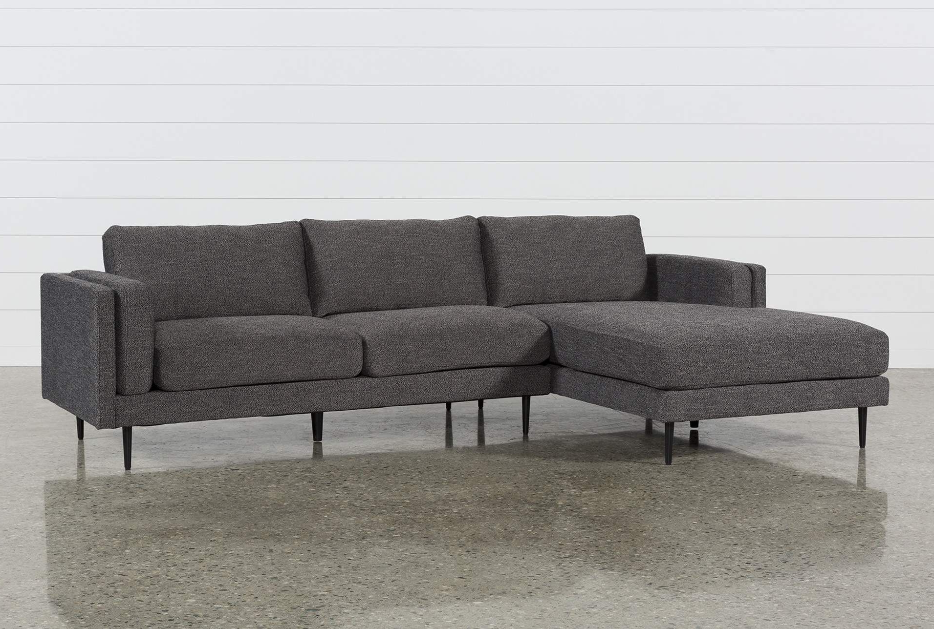 Widely Used Turdur 2 Piece Sectionals With Laf Loveseat Pertaining To Aquarius Dark Grey 2 Piece Sectional W/laf Chaise (View 12 of 20)