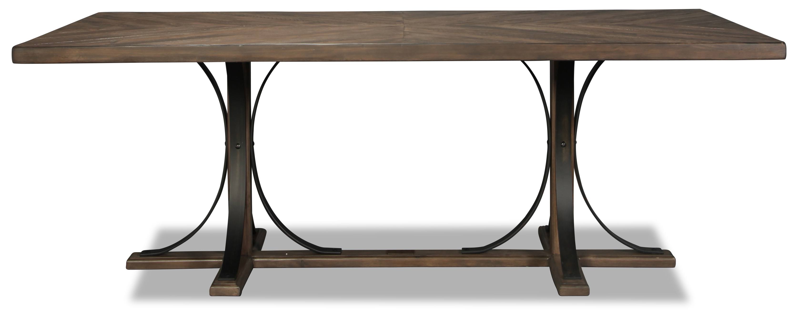 With Regard To Most Recently Released Magnolia Home Iron Trestle Cocktail Tables (View 7 of 20)
